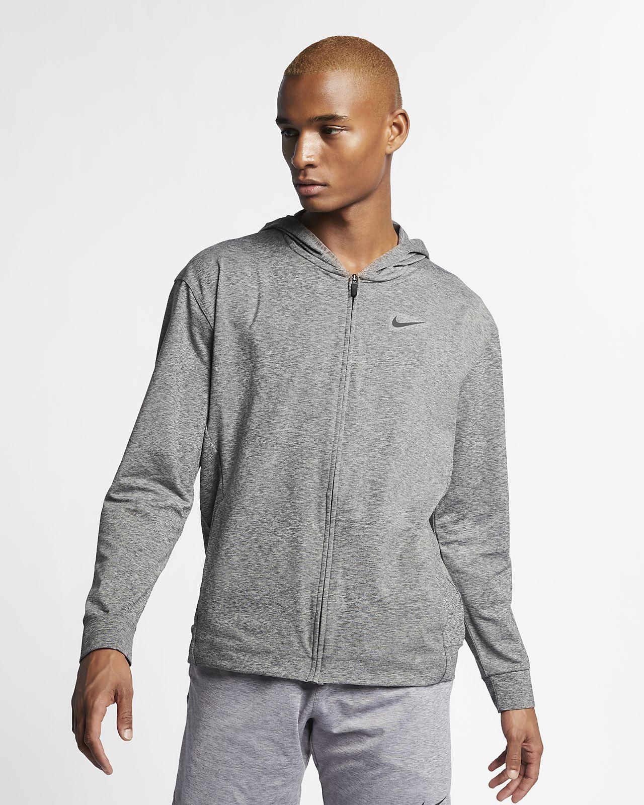 Nike Dri FIT Men's Full Zip Yoga Training Hoodie