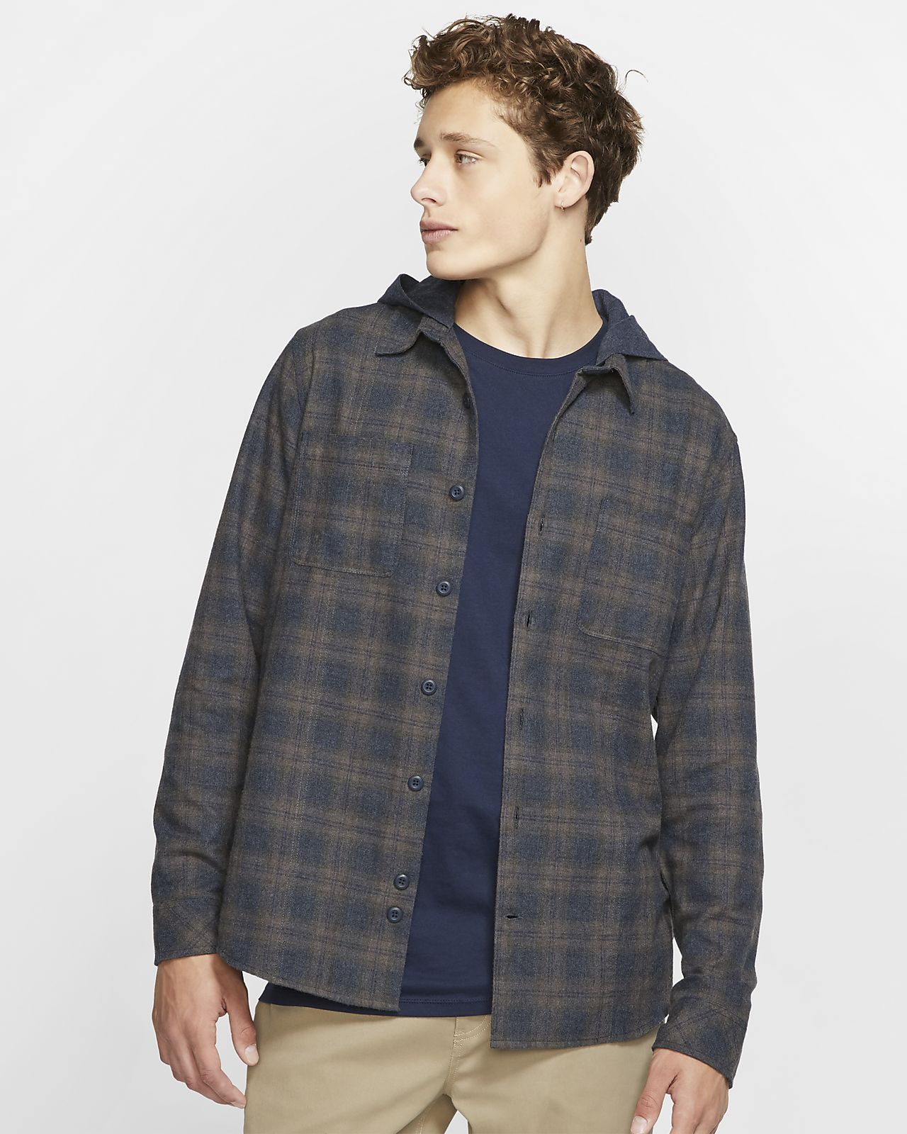 Hurley Crowley Washed Men's Long-Sleeve Hooded Shirt