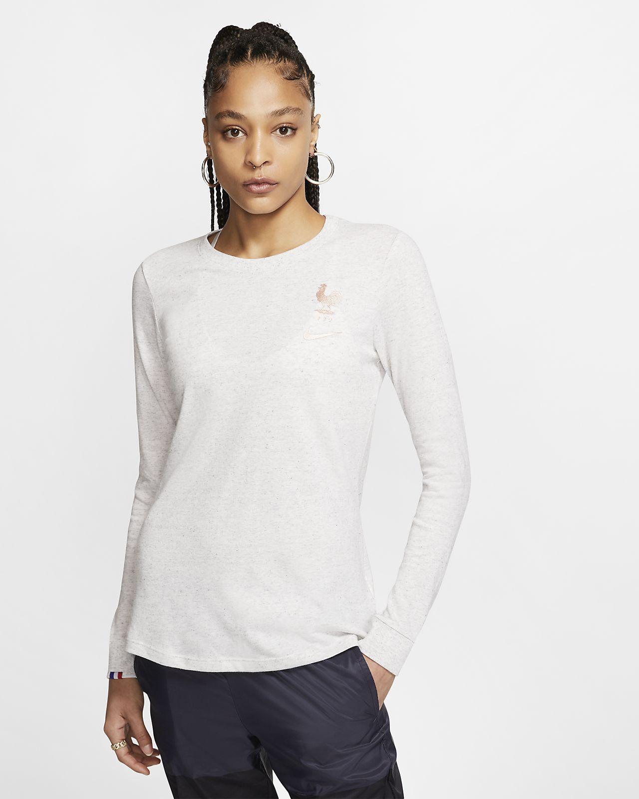 Långärmad fotbolls-t-shirt FFF för kvinnor