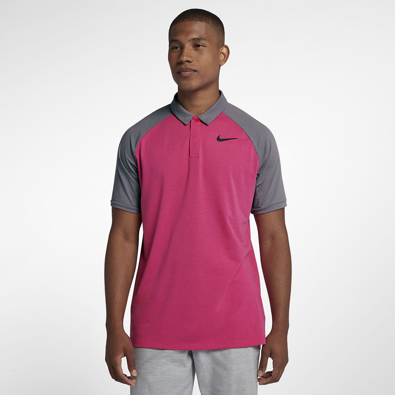 Nike Dri-FIT golfskjorte i standard passform for herre