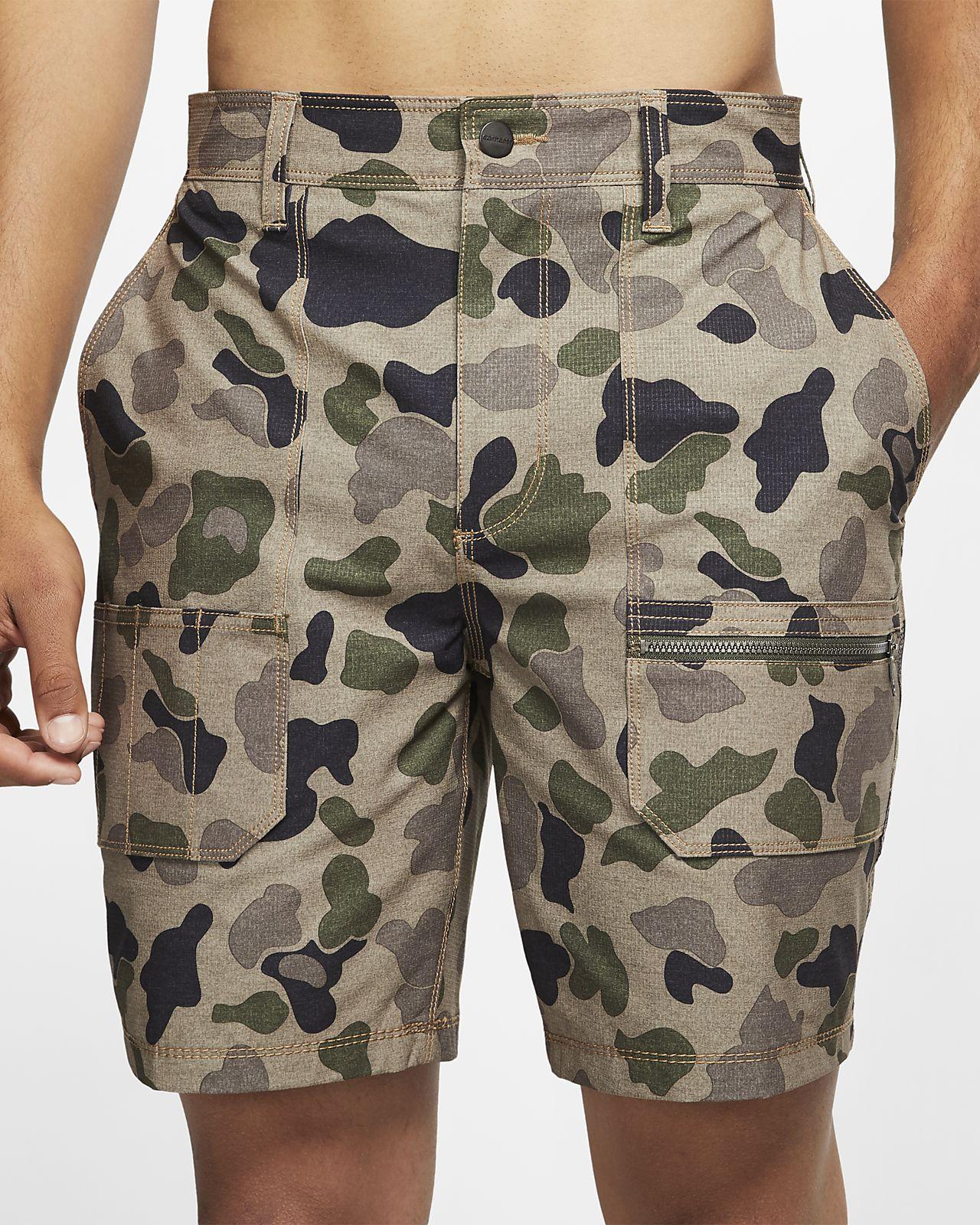 Hurley x Carhartt Camo-Work-Shorts für Herren (ca. 48,5 cm)