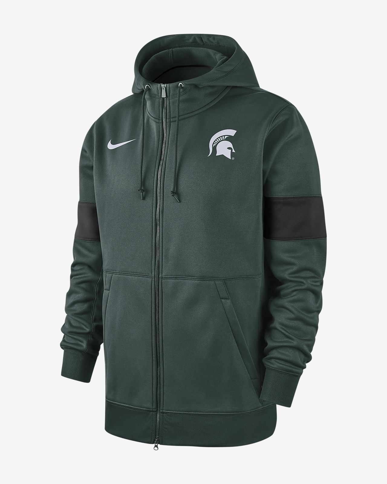 Nike College Therma (Michigan State) Men's Full-Zip Hoodie