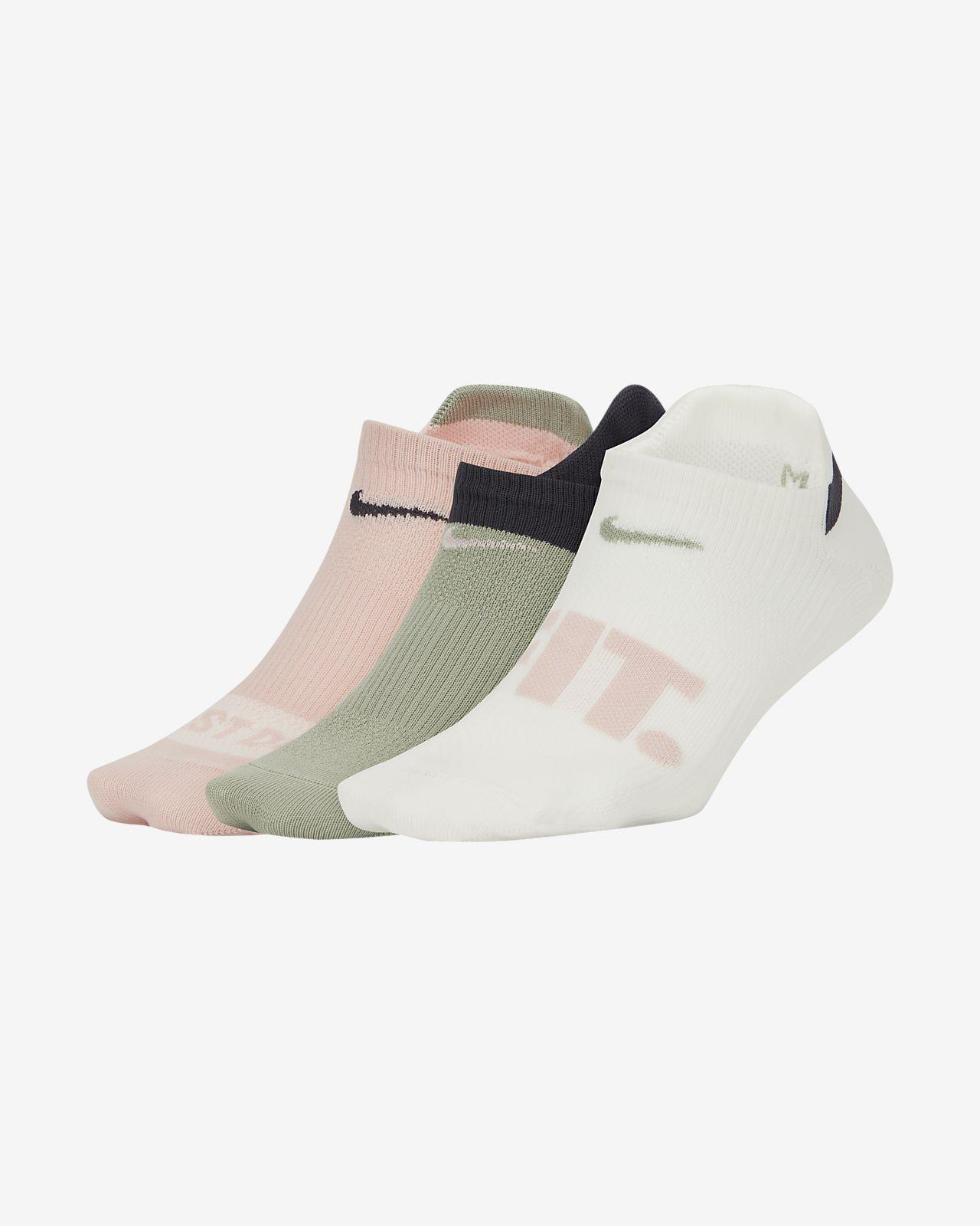 Nike Everyday Plus Lightweight No-Show Training Socks (3 Pairs)
