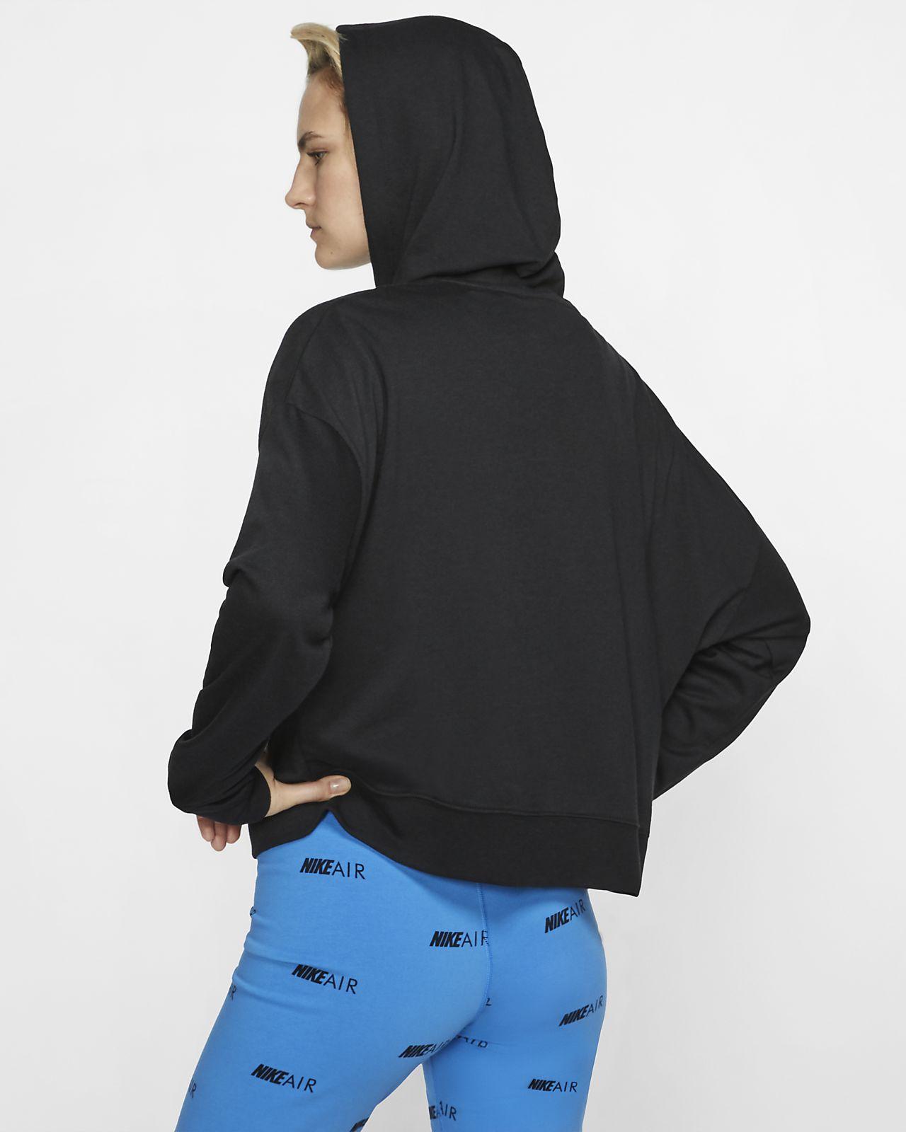Felpa con cappuccio e zip a tutta lunghezza nike sportswear ragazza nero nike bianco felpe con cappuccio