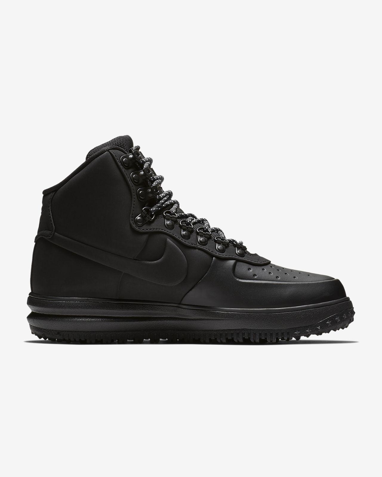 Nike Lunar LF1 Air Force 1 Duckboot '18 Triple All Black Boots BQ7930 003 Size