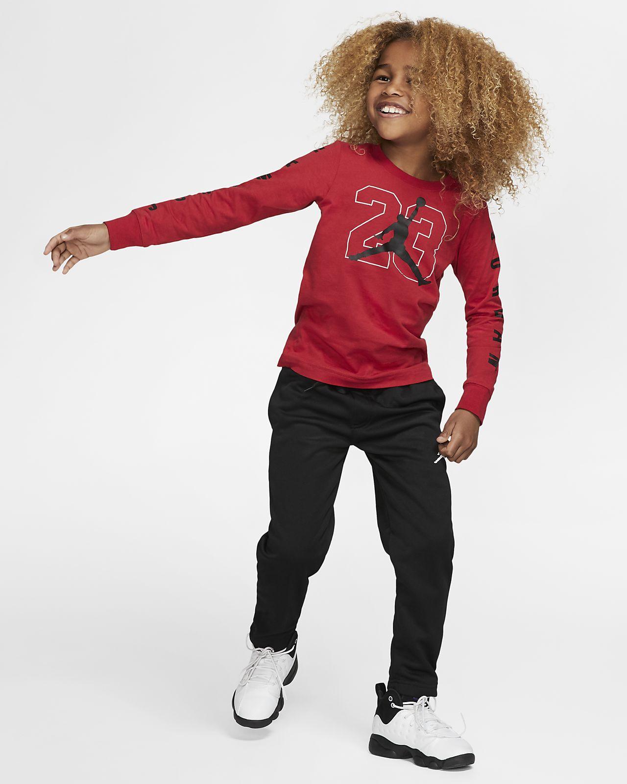 ae38999f Jordan Jumpman 23 Little Kids' Long-Sleeve Graphic T-Shirt. Nike.com