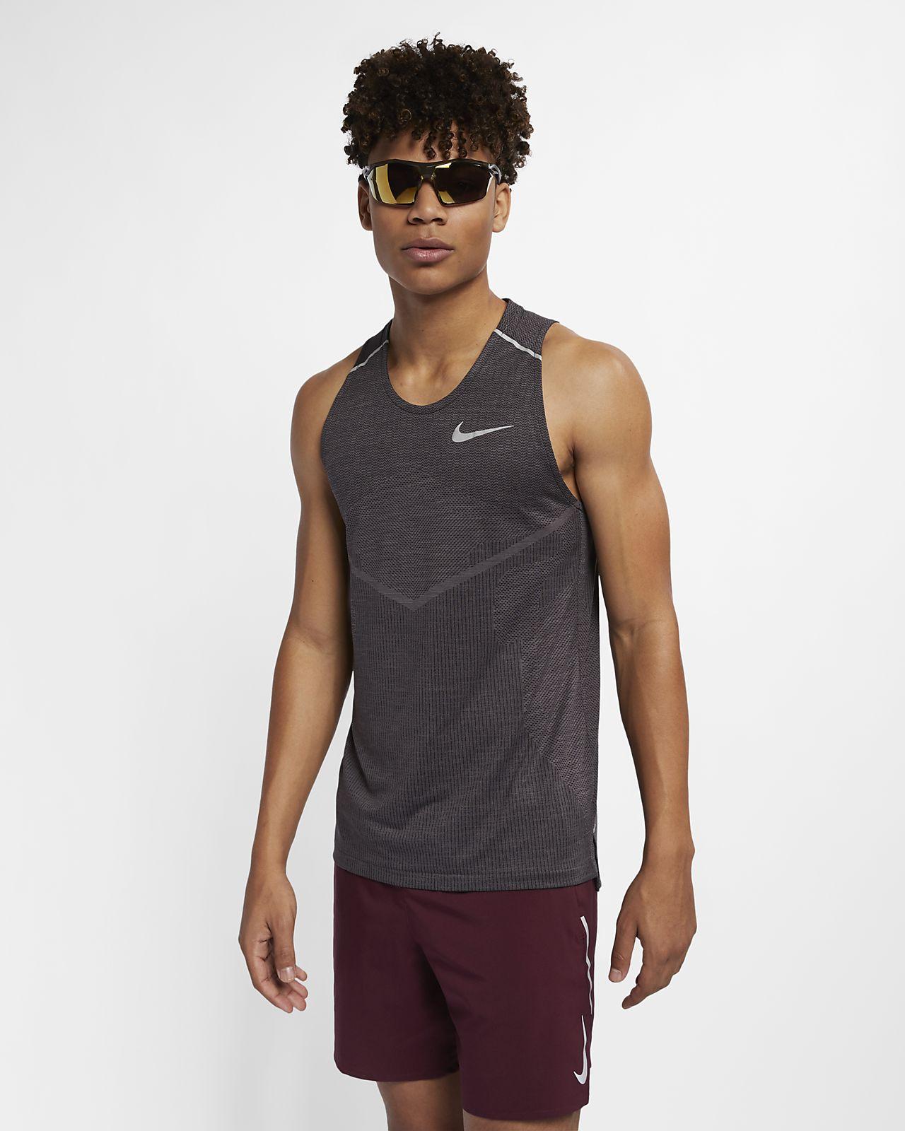 Camisola de running sem mangas Nike TechKnit Cool para homem