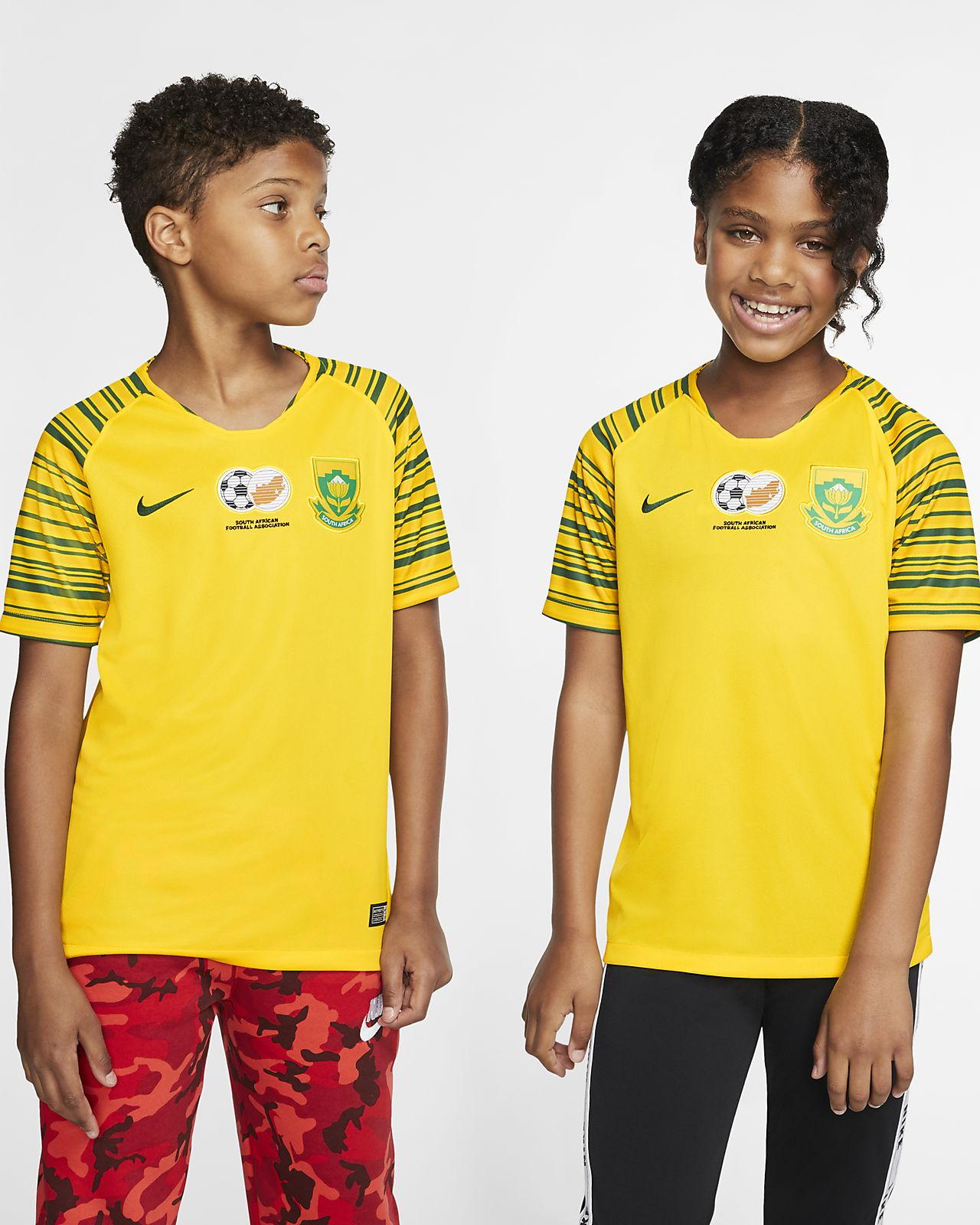 Maillot de football South Africa 2019 Stadium Home pour Enfant