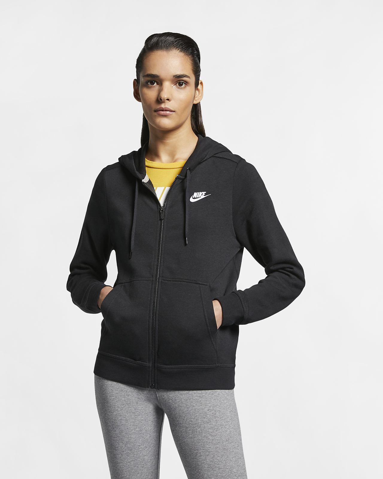 Sweat à capuche en tissu Fleece entièrement zippé Nike Sportswear pour Femme