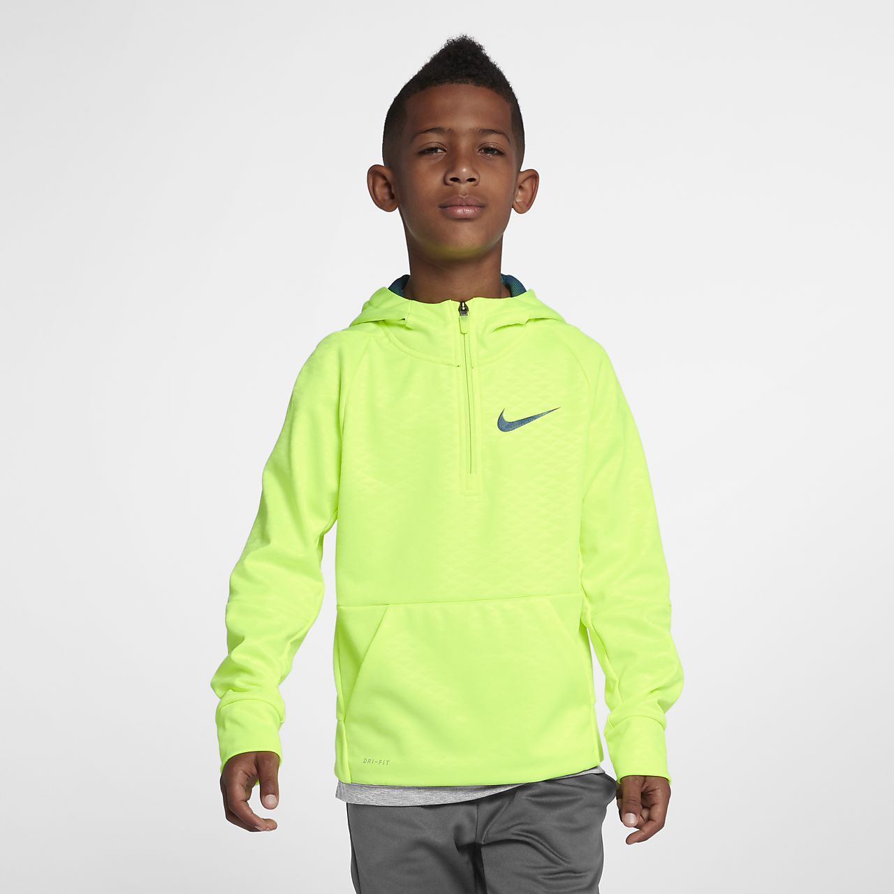 c5c2ece0040b Nike Dri-FIT Therma Big Kids  (Boys ) Half-Zip Training Hoodie. Nike.com