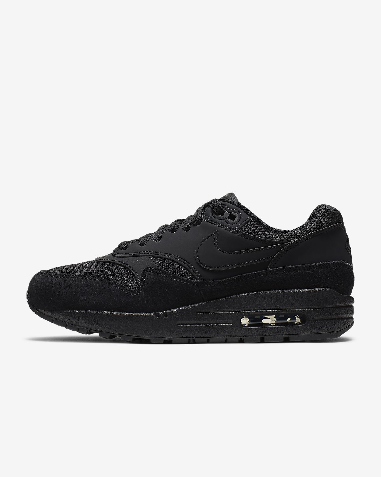Nike Air Max 1 Leather Black White Grey