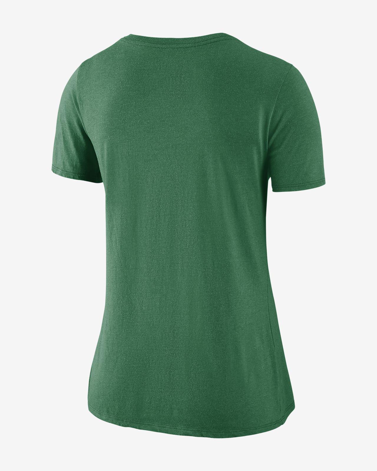 01fb66e5d4 Nike Historic V-Neck (NFL Jets) Women's Tri-Blend T-Shirt