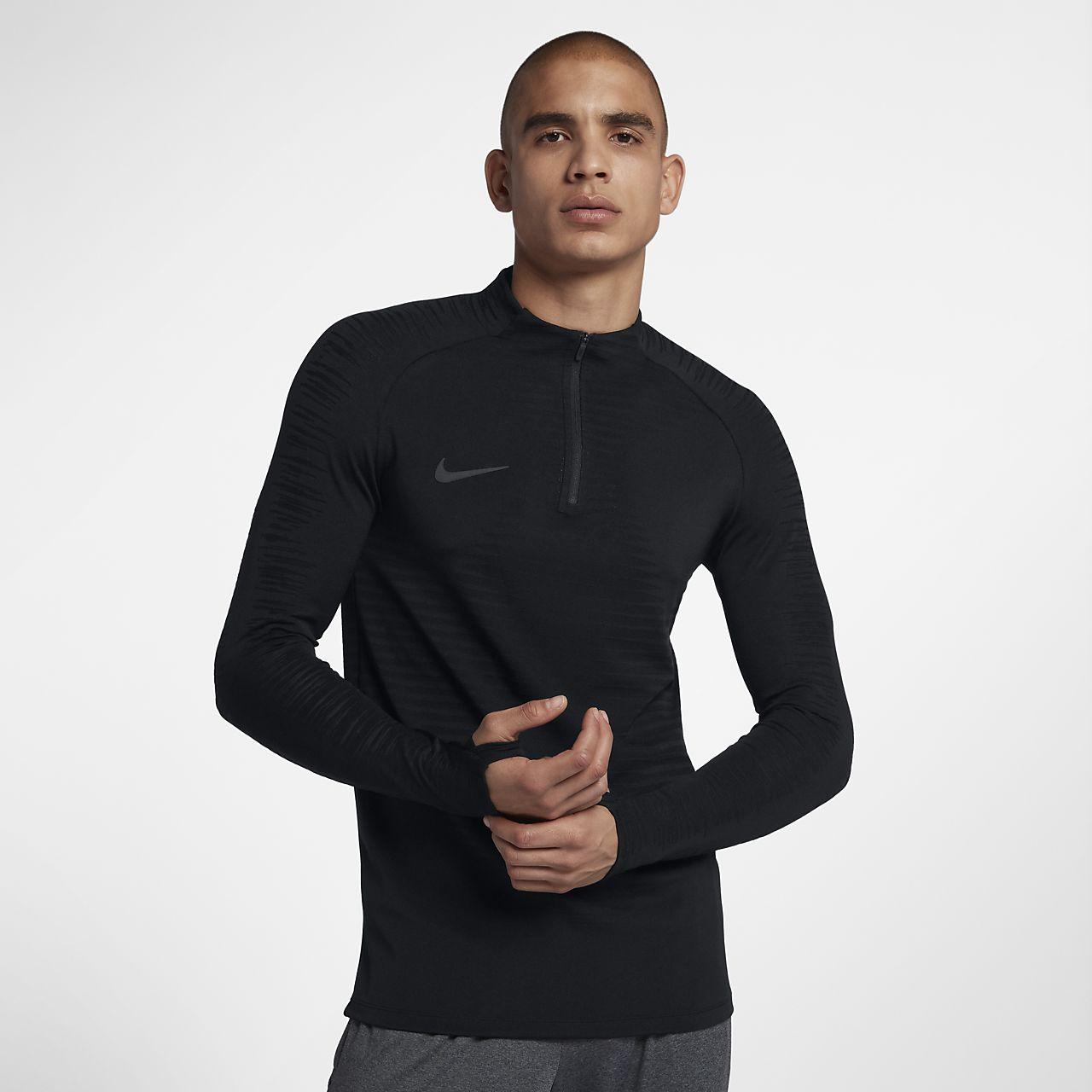 Nike VaporKnit Strike-fodboldtræningstrøje med lange ærmer til mænd