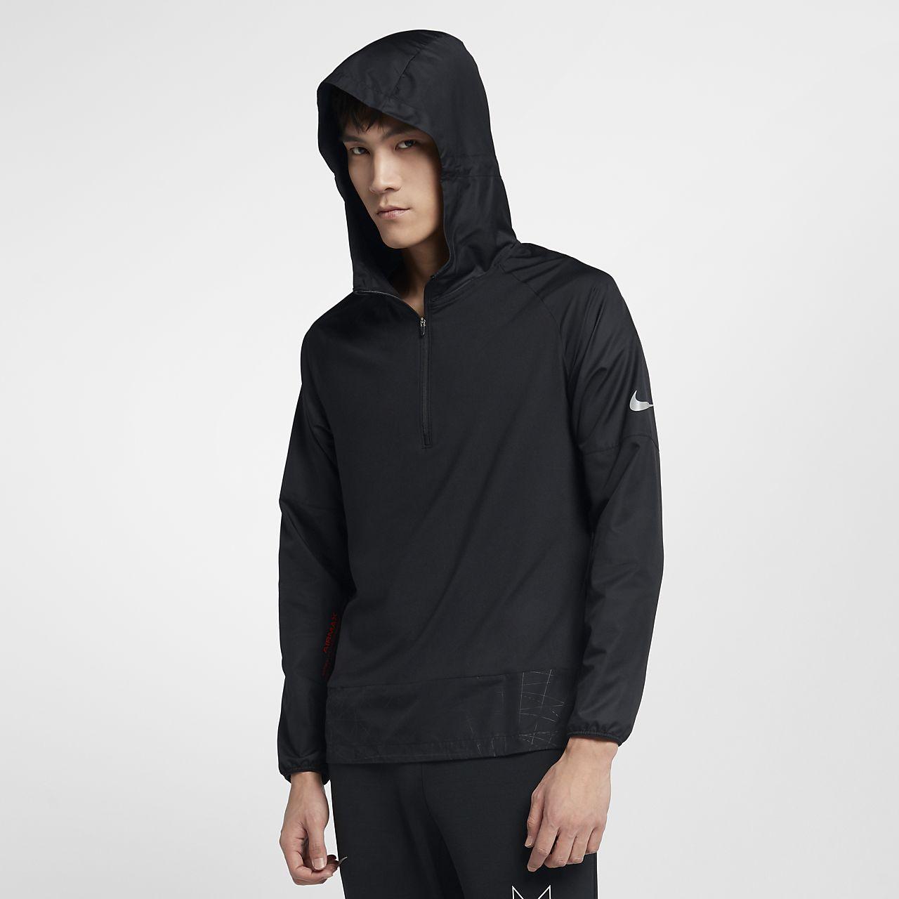เสื้อวิ่งมีฮู้ดซิปสั้นผู้ชาย Nike Element