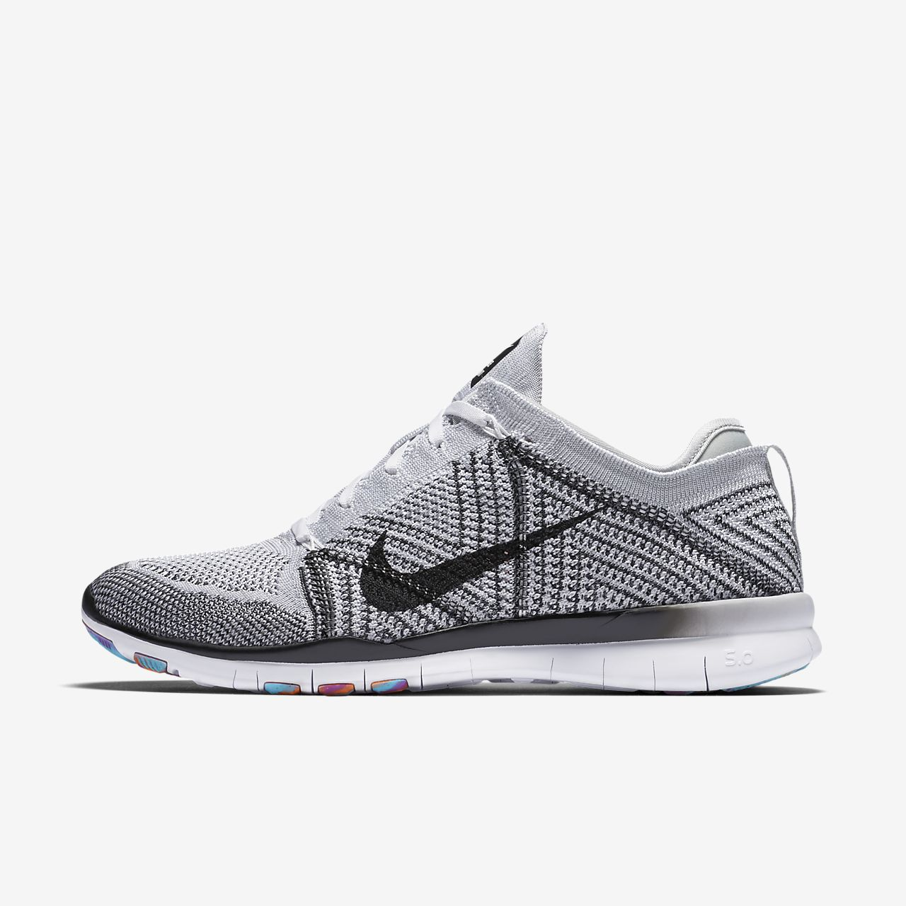 nike free flyknit 5.0 women's black and white blazer