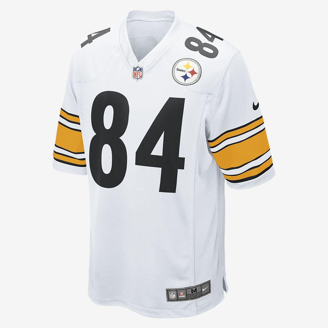 Camisola de jogo de futebol americano NFL Pittsburgh Steelers (Antonio Brown) para homem