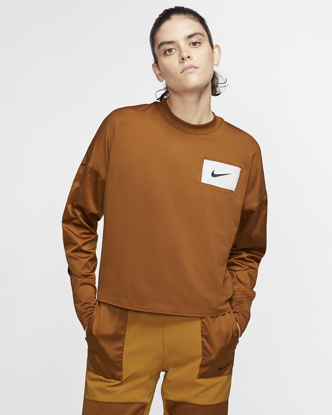 Nike Korter hardloopshirt met ronde hals voor dames