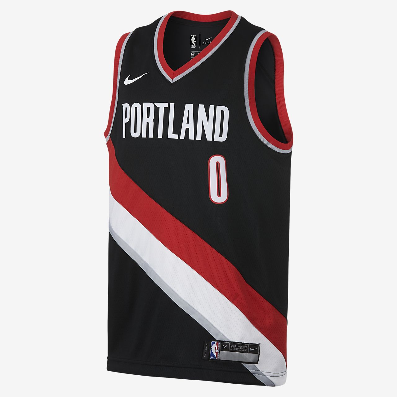low priced c1fd0 54230 Damian Lillard Portland Trail Blazers Nike Icon Edition Swingman Big Kids'  NBA Jersey