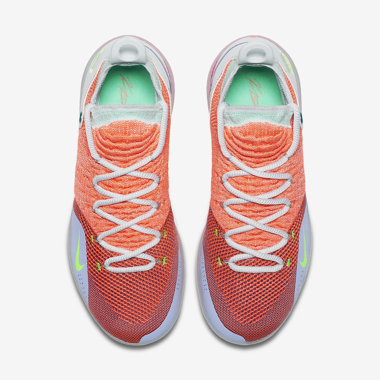 "the latest 97cca fc545 Nike Zoom KD11 EP Basketball Shoe  Nike Zoom KD 11 EYBL  2018 Nike KD 11 "" EYBL"" Hot Punch Lime Blast-Pure Platinum For Sale ..."