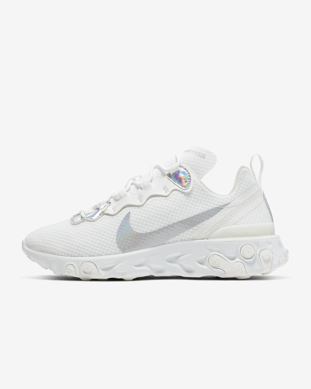Farvestrålende Nike React Element 55-sko til kvinder