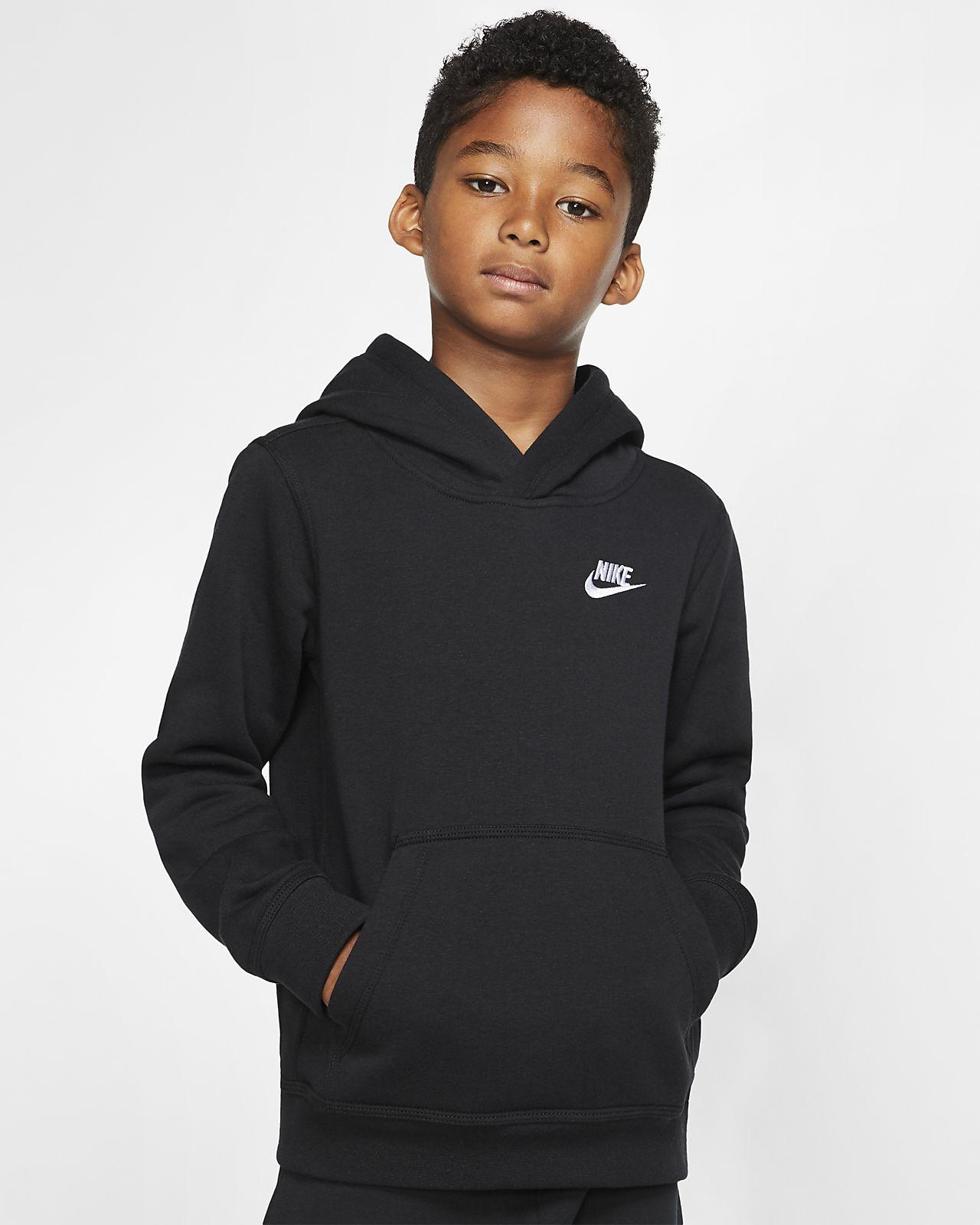 Μπλούζα με κουκούλα Nike Sportswear Club για μεγάλα παιδιά