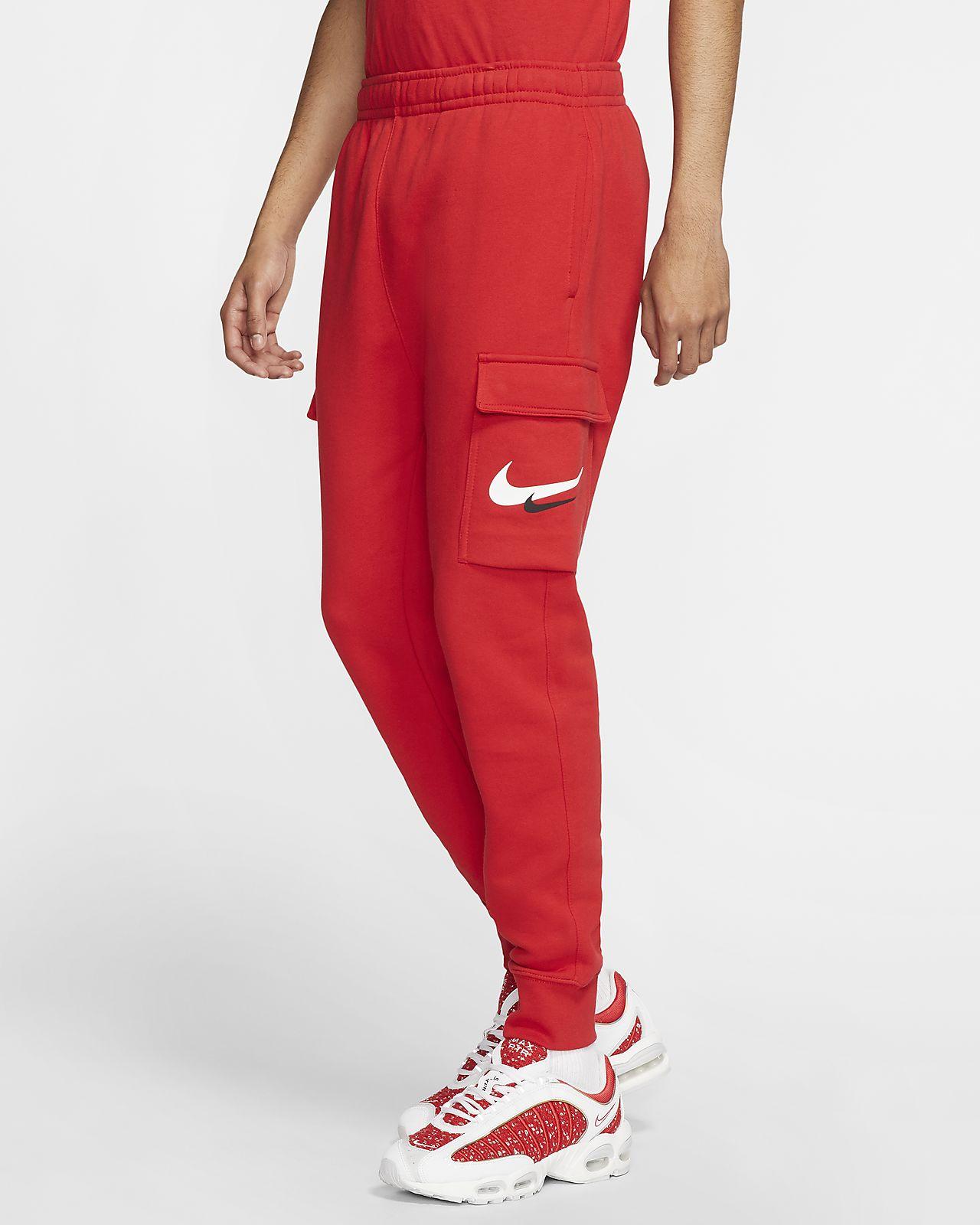 Ανδρικό εμπριμέ παντελόνι cargo με σήμα Swoosh Nike Sportswear