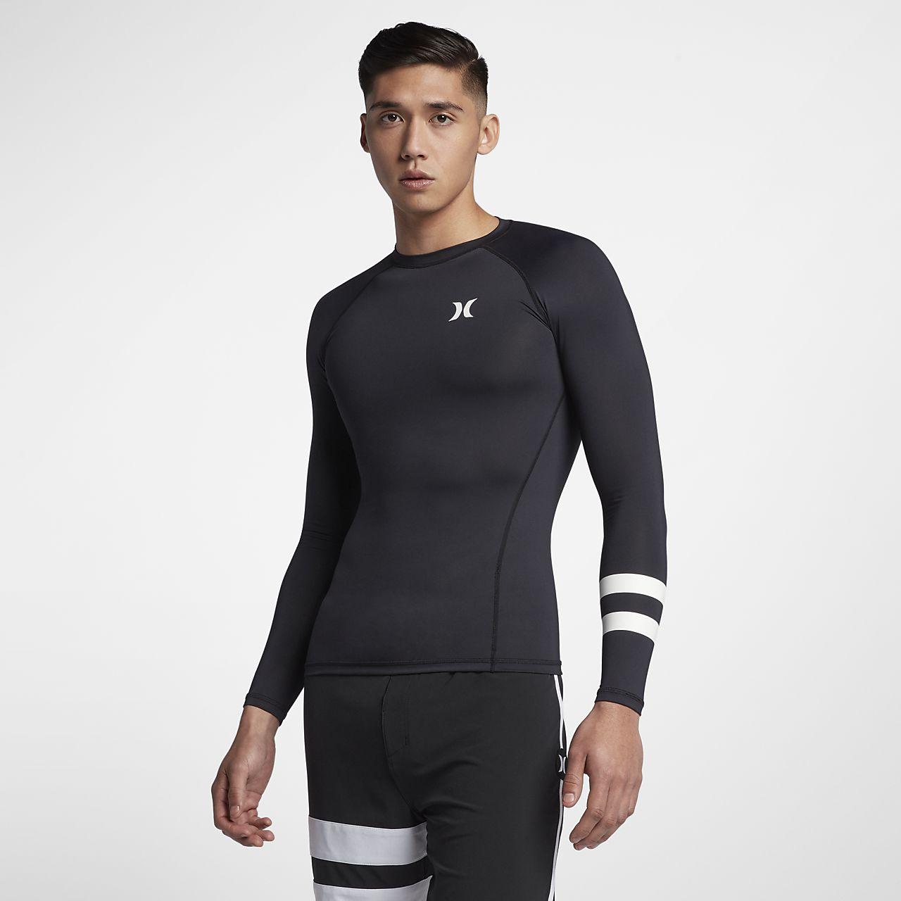Camiseta de surf de manga larga para hombre Hurley Pro Light