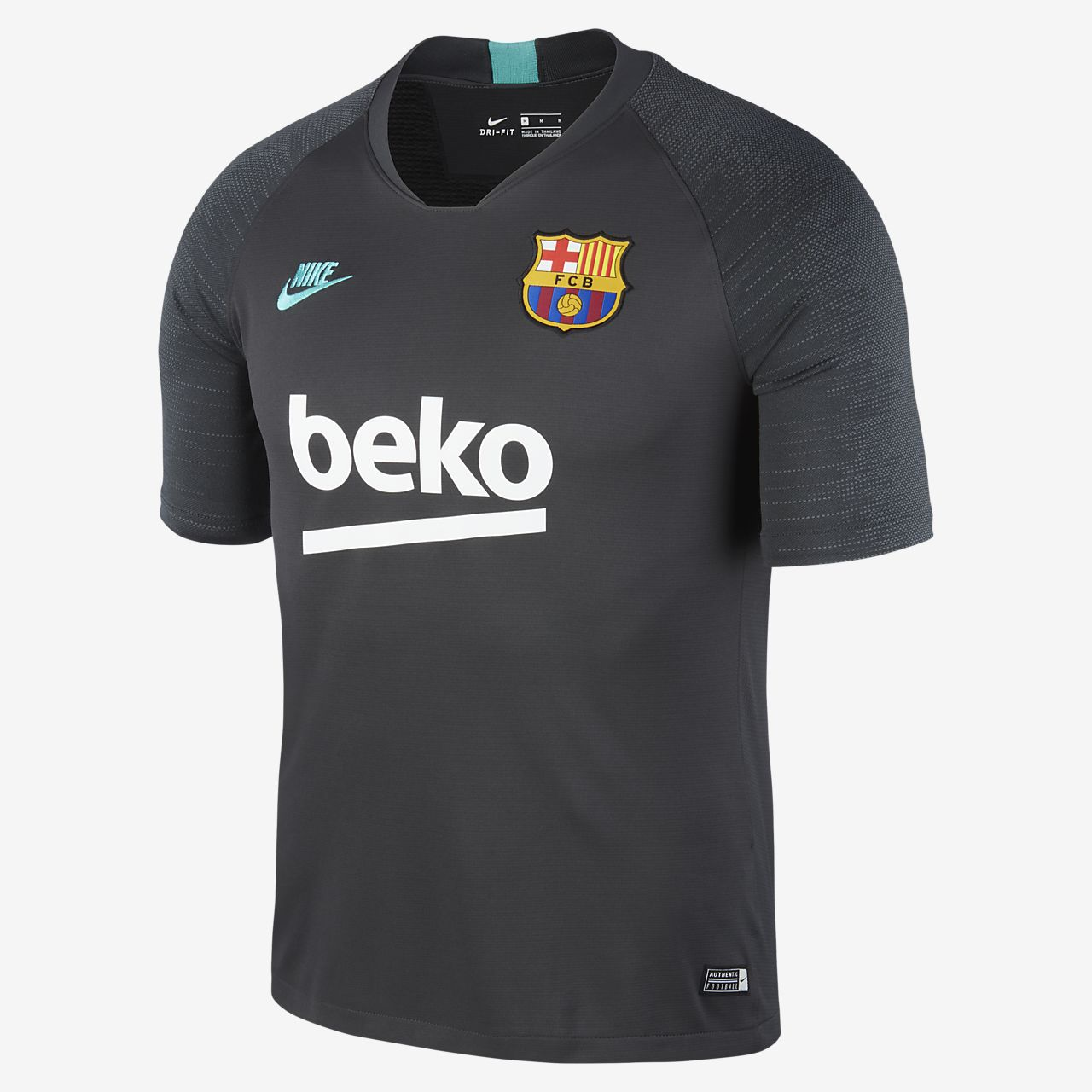 Nike Breathe FC Barcelona Strike Men's Short-Sleeve Football Top