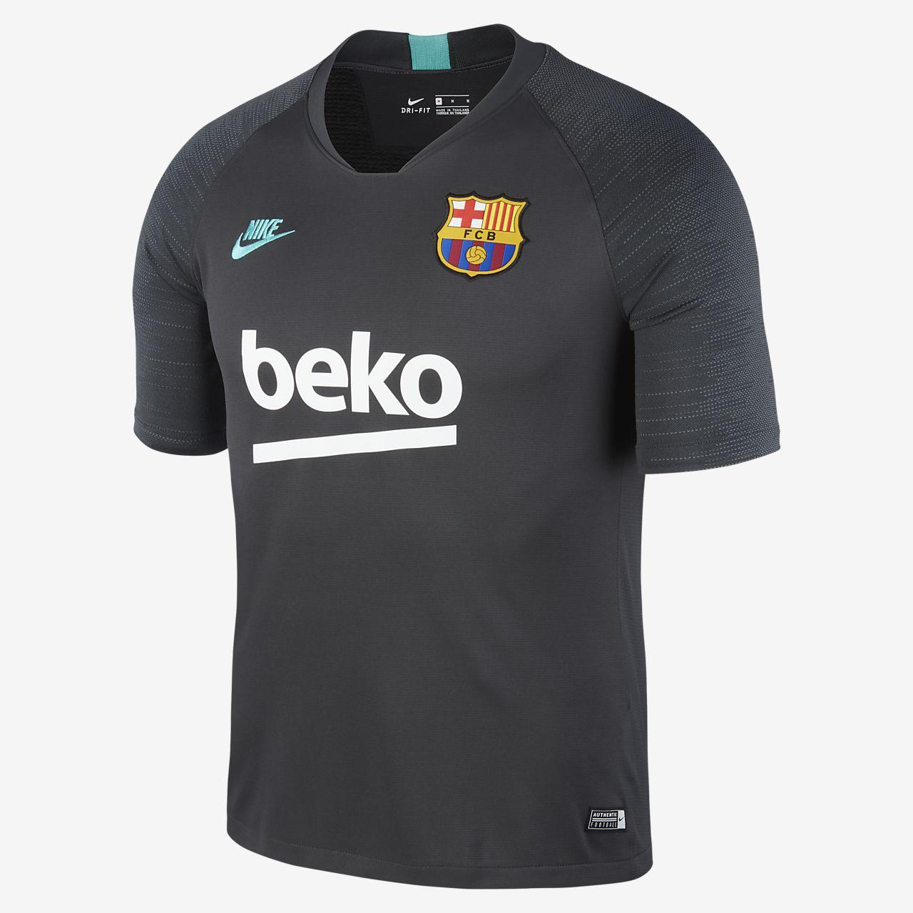 Pánský fotbalový top Nike Breathe FC Barcelona Strike s krátkým rukávem