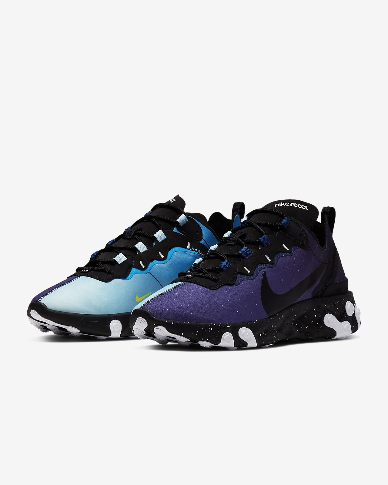 Unika Nike React Element 55 Men's Shoe. Nike.com XS-34