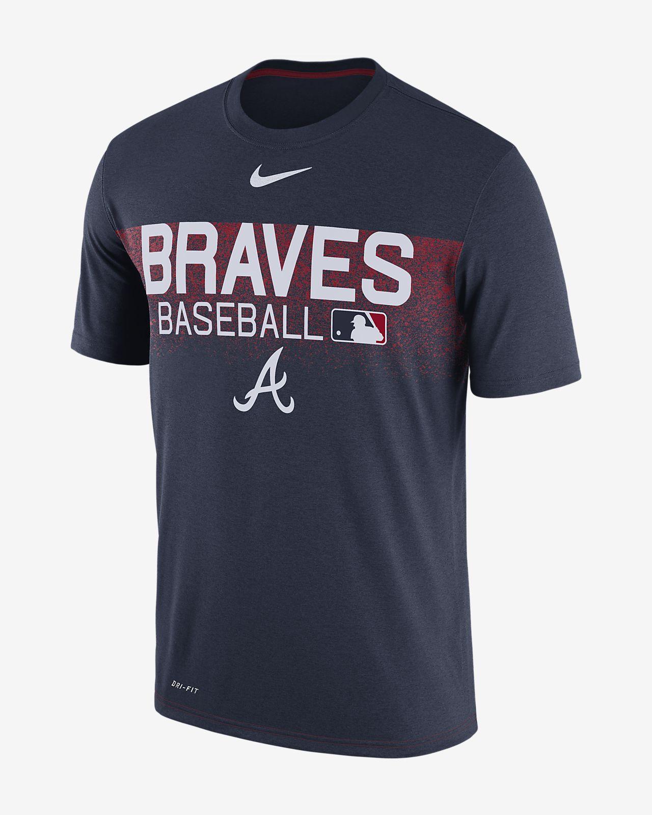 Nike Legend Team Issue (MLB Braves) Men's T-Shirts Navy