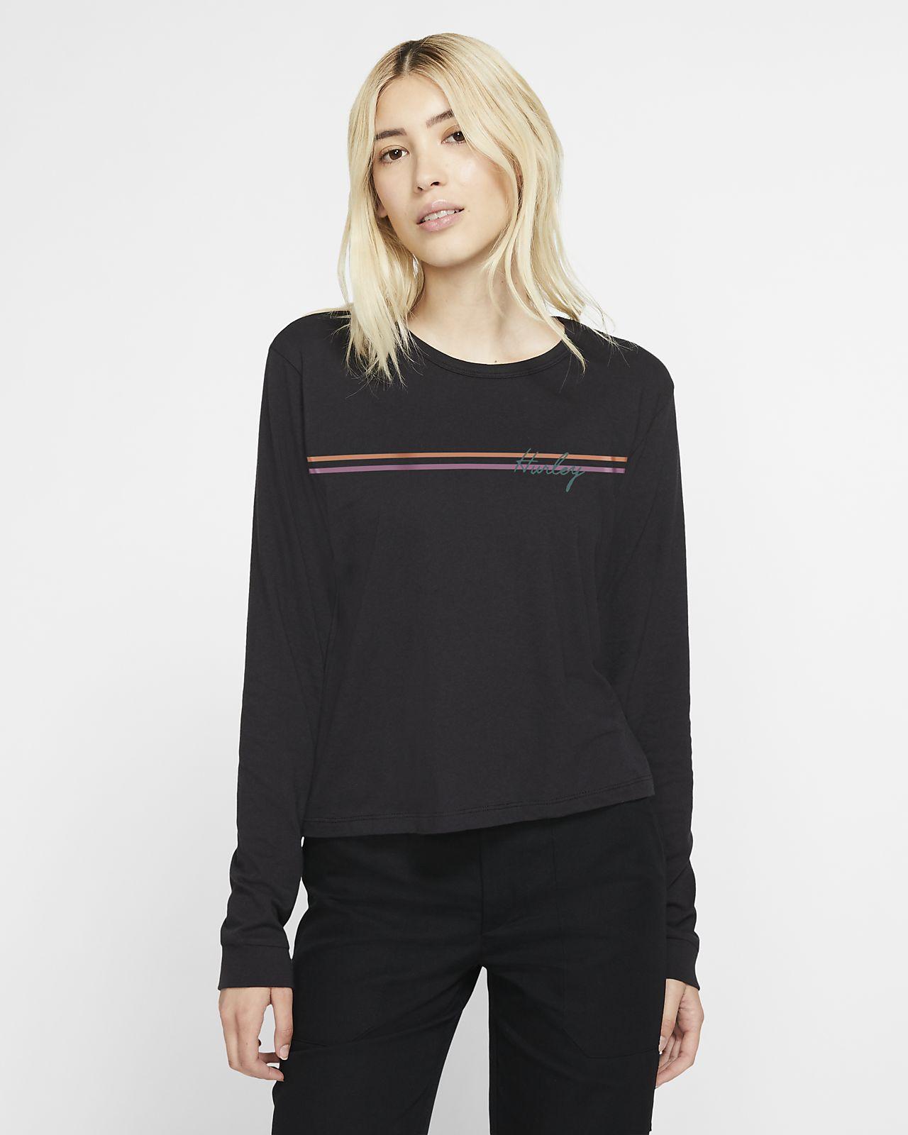 Hurley Line Bars Perfect Women's Long-Sleeve T-Shirt