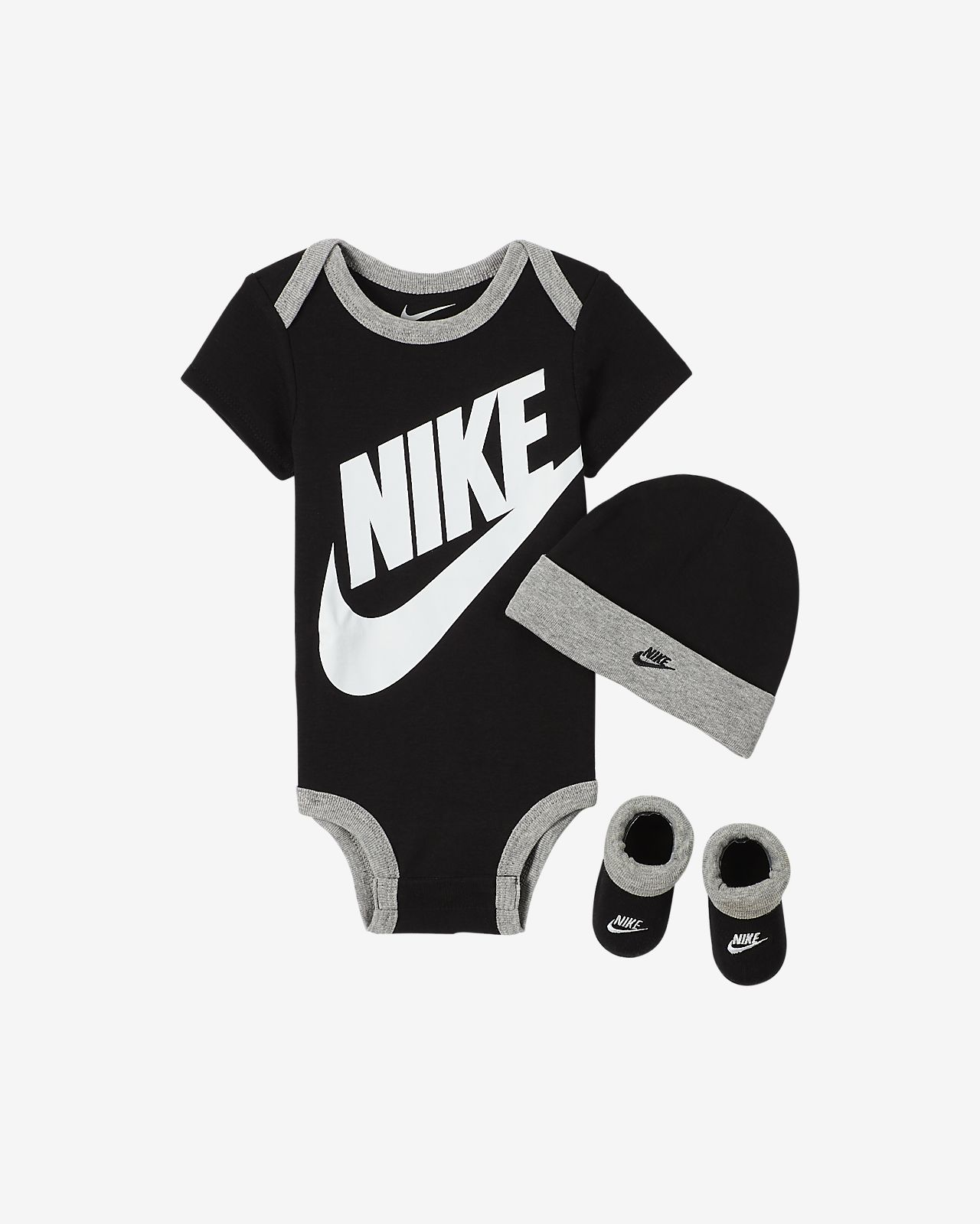 Nike Baby Bodysuit, Hat and Booties Set