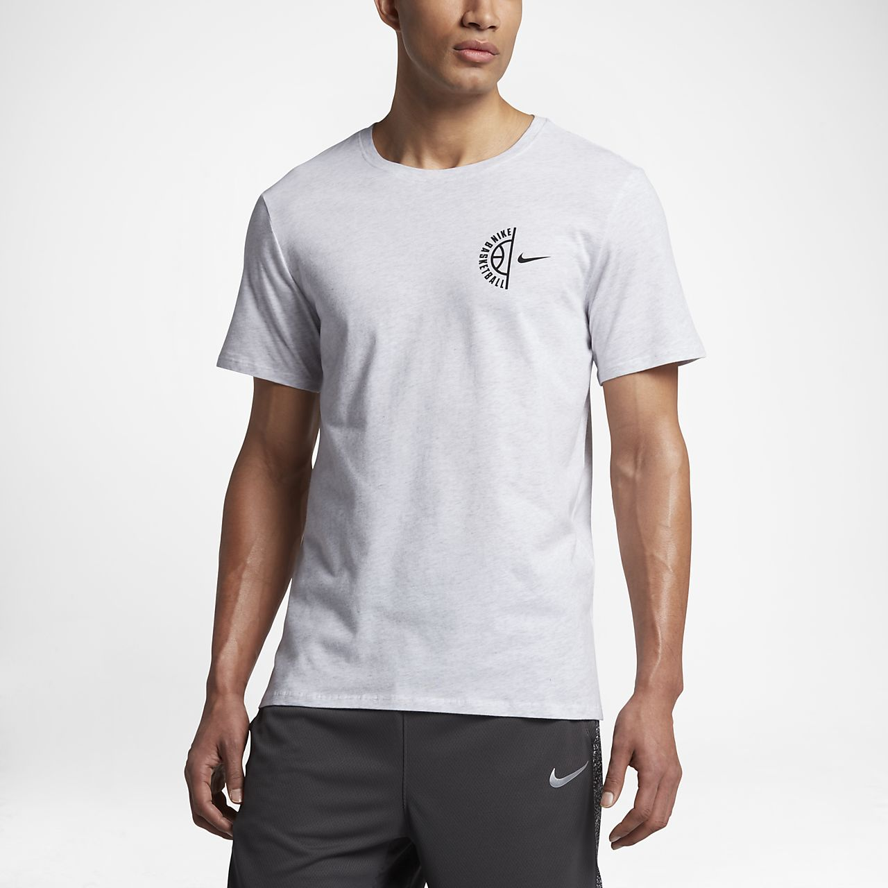 Nike Dry Basketball Men's T-Shirts Birch Heather