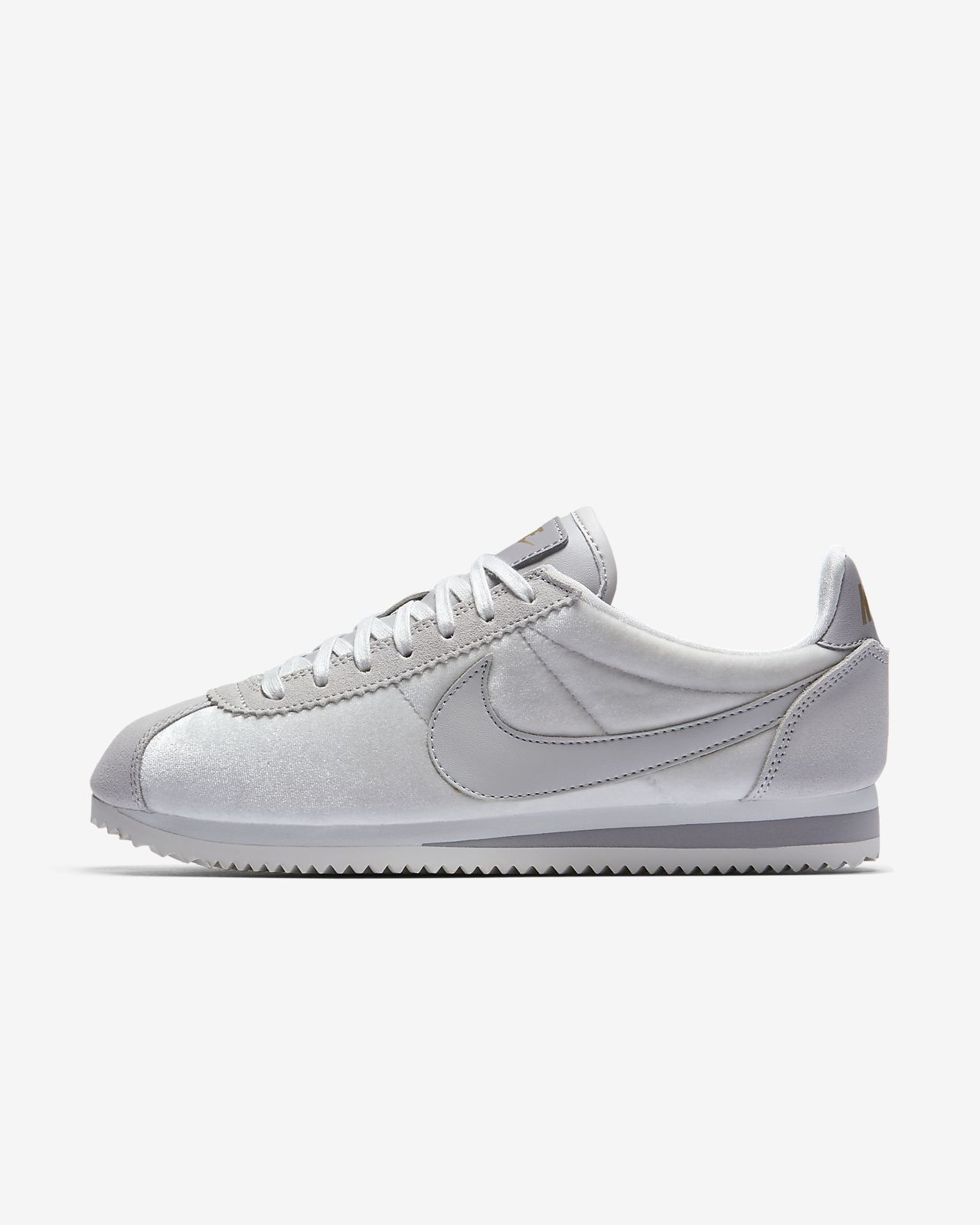 NIKE WOMEN'S CORTEZ SE VAST GREY VAST GREY METALLIC GOLD 902856-011