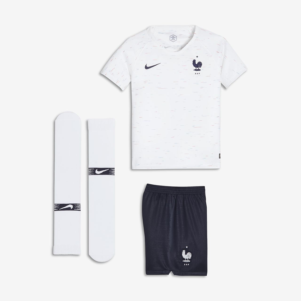 2cfabbb72b04f Equipamento de futebol 2018 FFF Stadium Away para criança. Nike.com PT