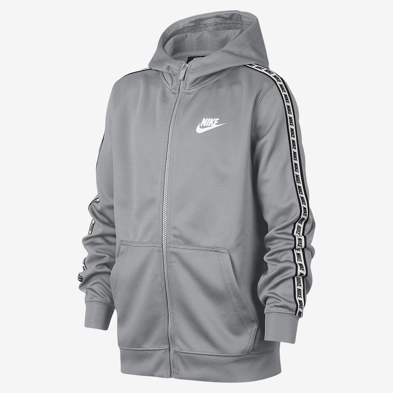 Mikina Nike Sportswear s kapucí a dlouhým zipem pro větší děti