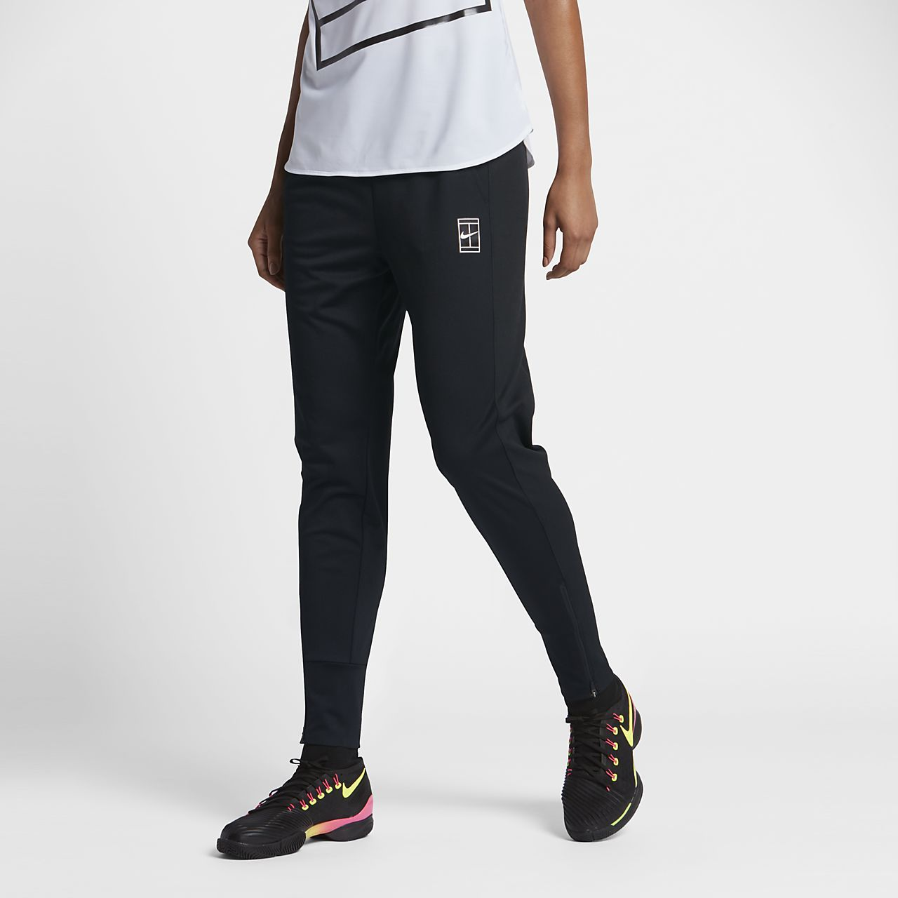 NikeCourt Dry Women's Tennis Pants Black/White