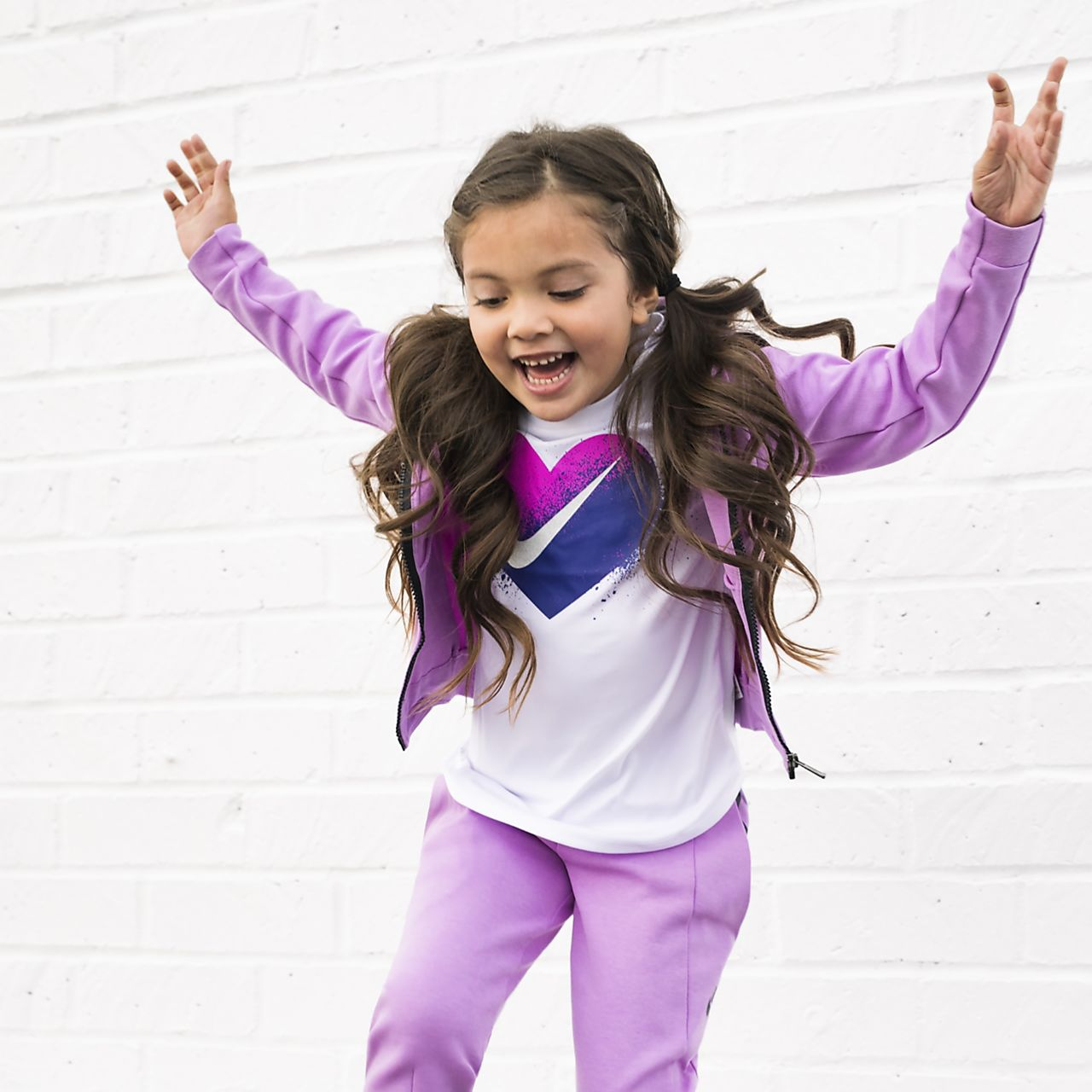 nike sportswear tech fleece little kids' (girls') pants. nike