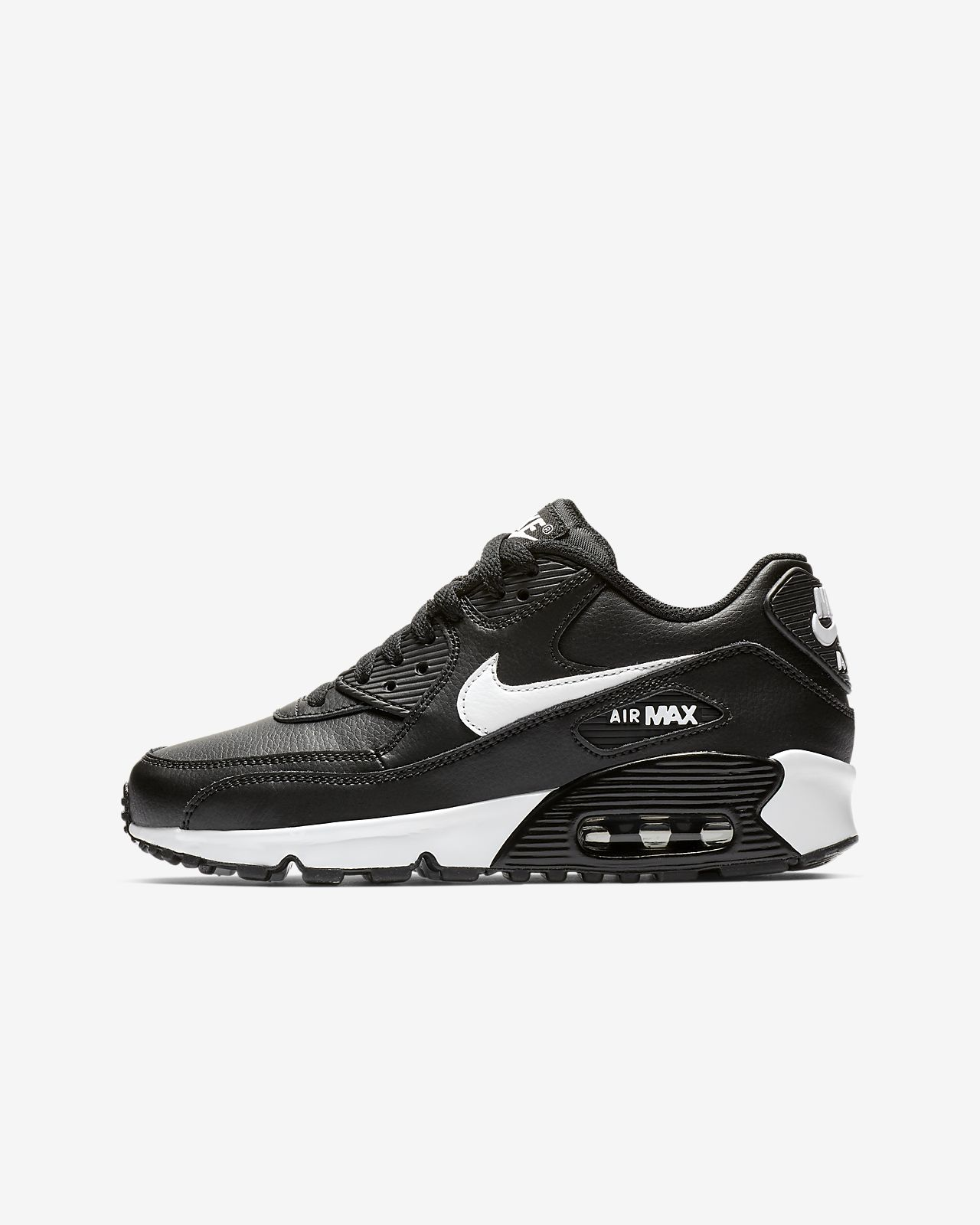 reputable site 75d70 a79e9 ... Nike Air Max 90 Leather Older Kids  Shoe