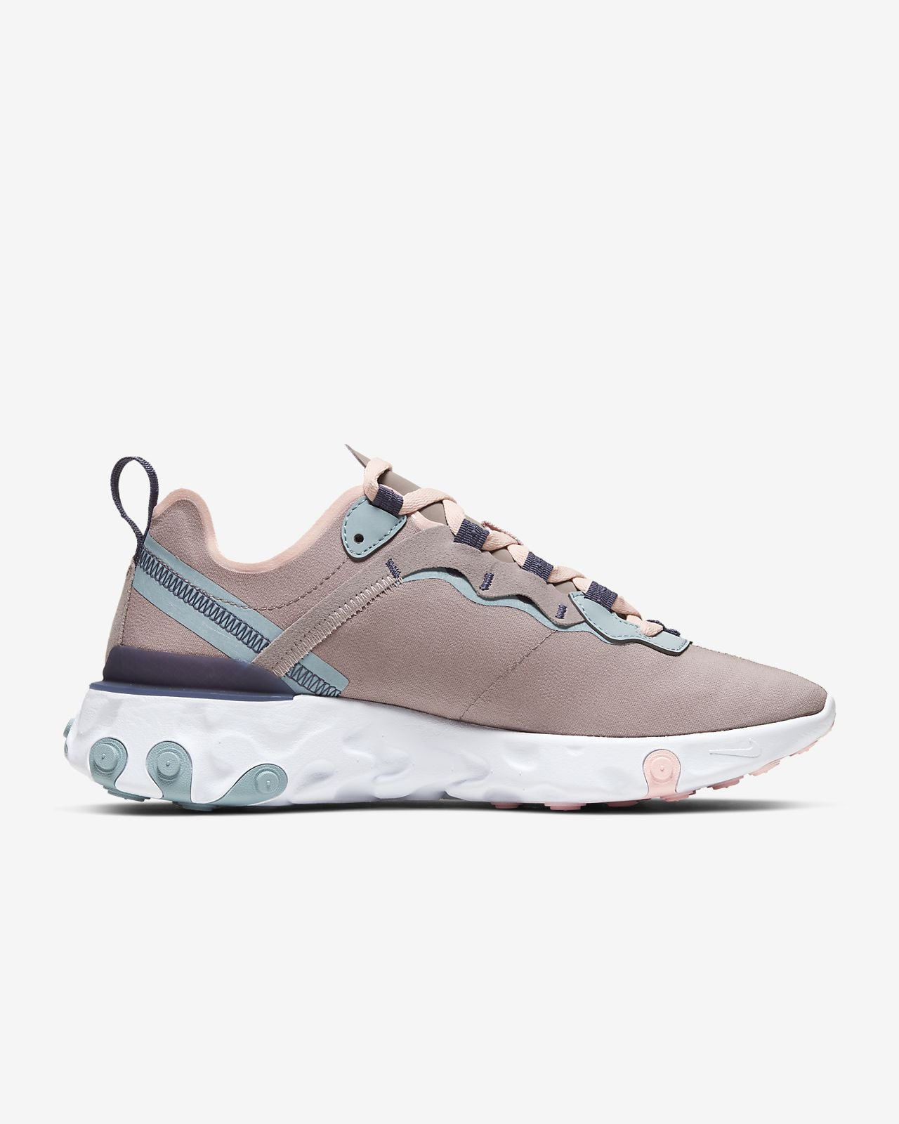 Nike React Element 55 Sneakers Ocean CubeAmethyst TintLuminous Green