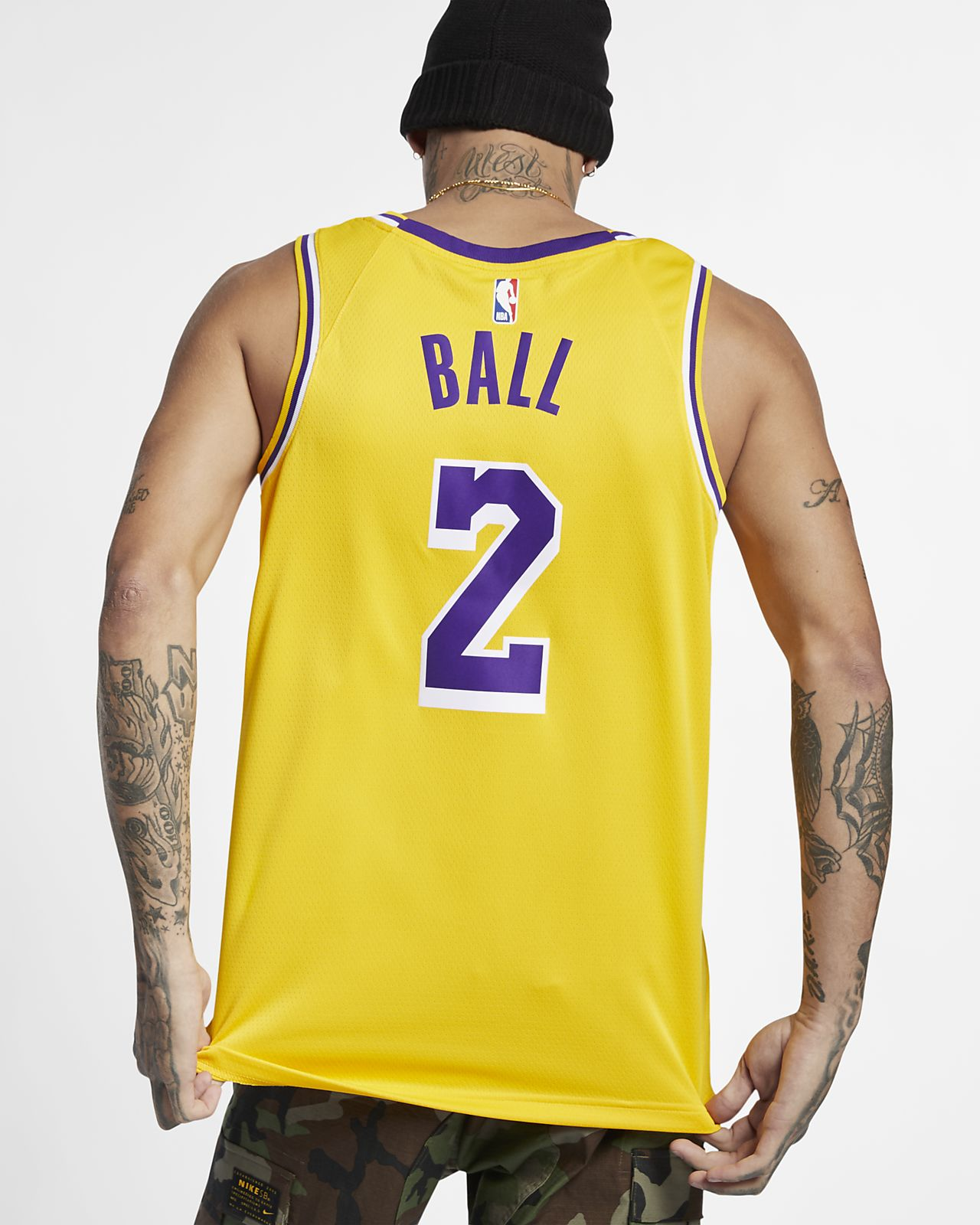 99c49f3141cc ... Lonzo Ball Icon Edition Swingman (Los Angeles Lakers) Men s Nike NBA  Connected Jersey