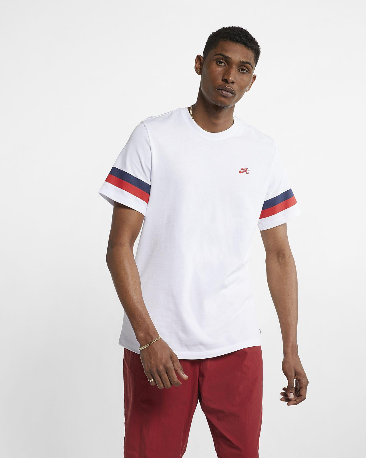 Nike SB-skater-T-shirt med striber til mænd