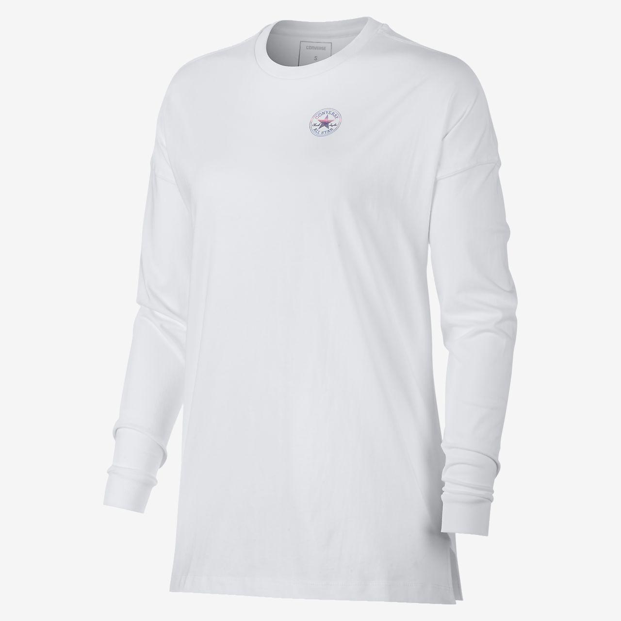 Converse Left Chest Chuck Patch Women's Long Sleeve T-Shirt. Nike.com