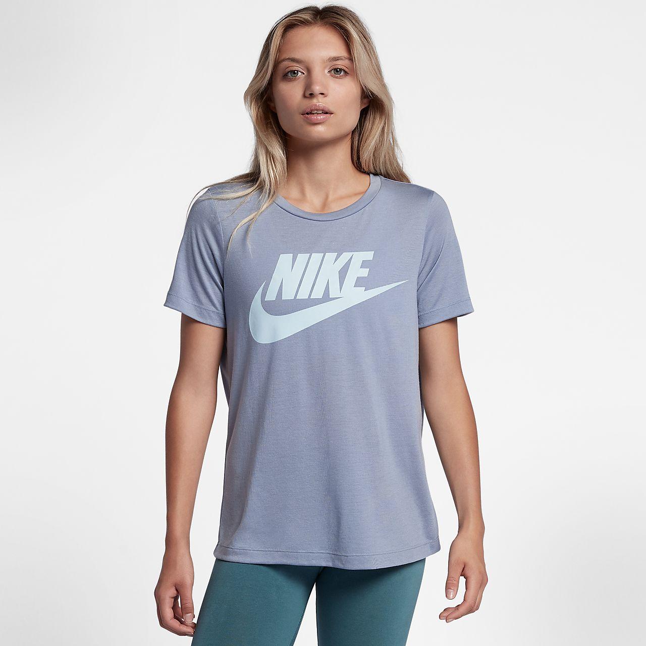 Nike Sportswear Essential Damen-Kurzarm-Oberteil mit Logo