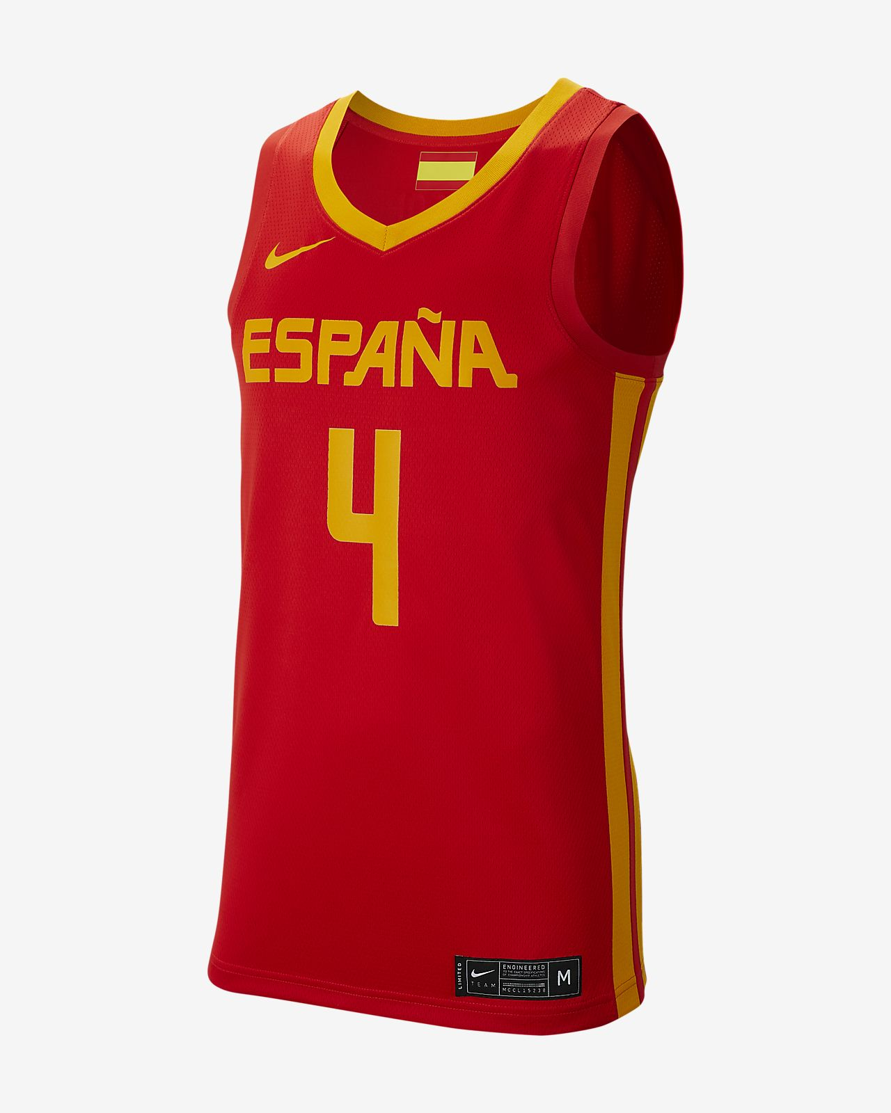 Męska koszulka do koszykówki Spain Nike (Road)