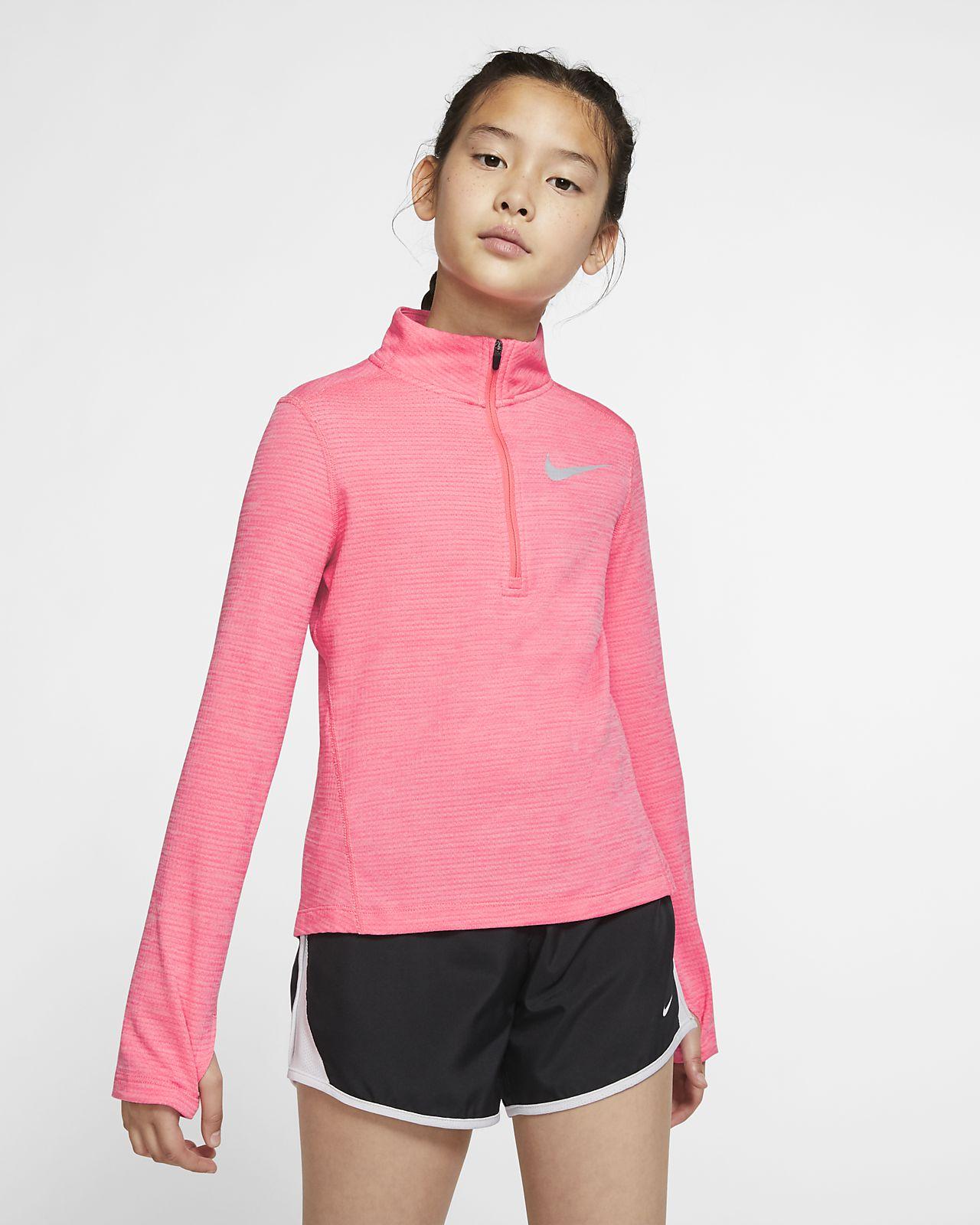 Maglia da running a manica lunga con zip a metà lunghezza Nike - Ragazza