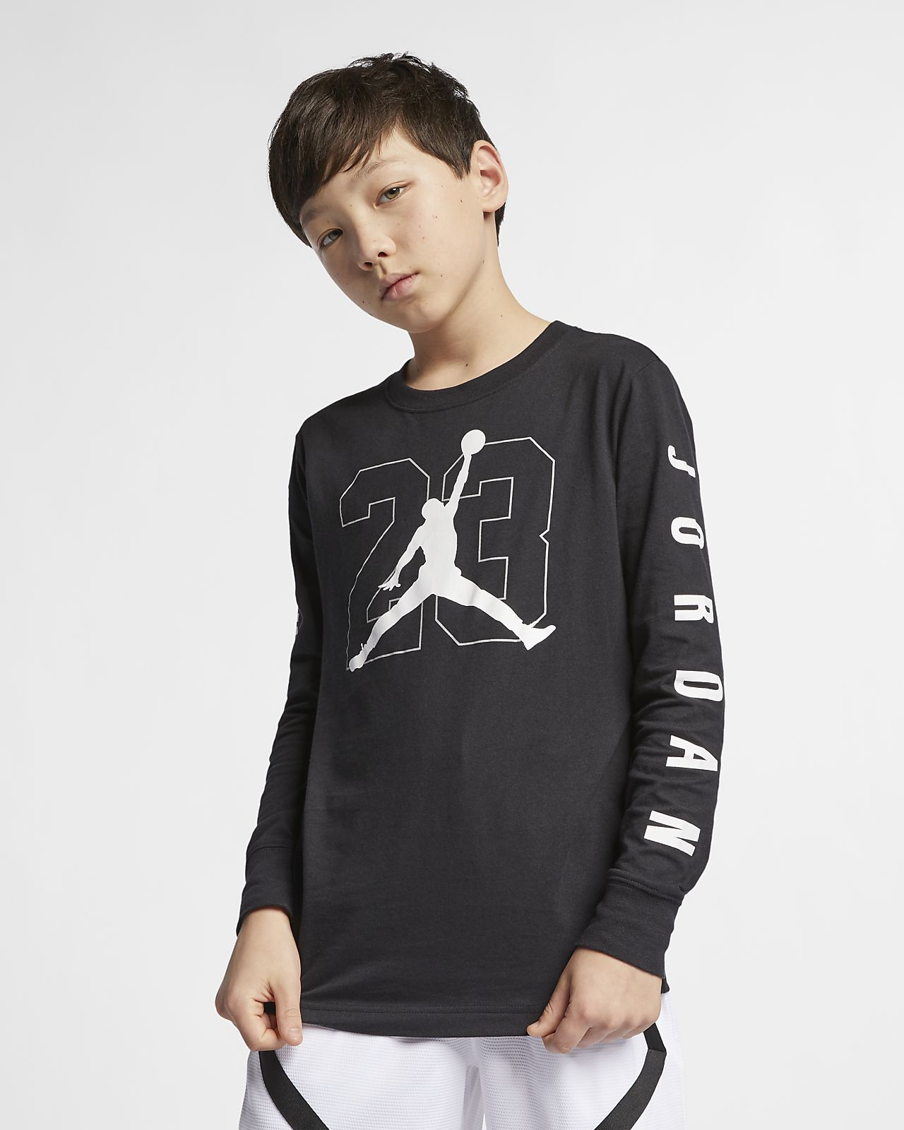 07f13e44 Jordan Jumpman 23 Big Kids' (Boys') Long-Sleeve Graphic T-Shirt ...
