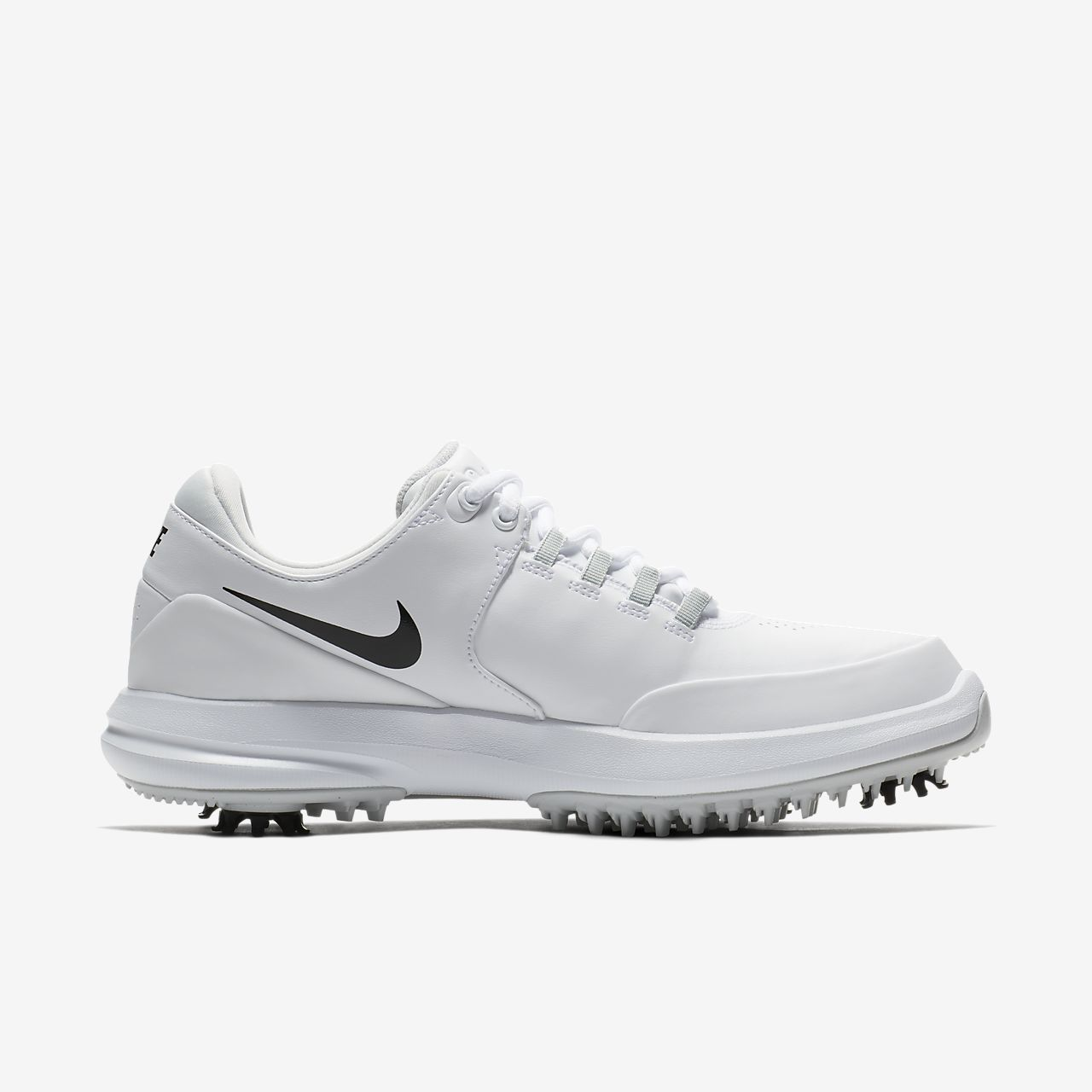 Nike Performance AIR ZOOM ACCURATE - Golf shoes - white/metallic silver/pure platinum/black J8v1eN3U