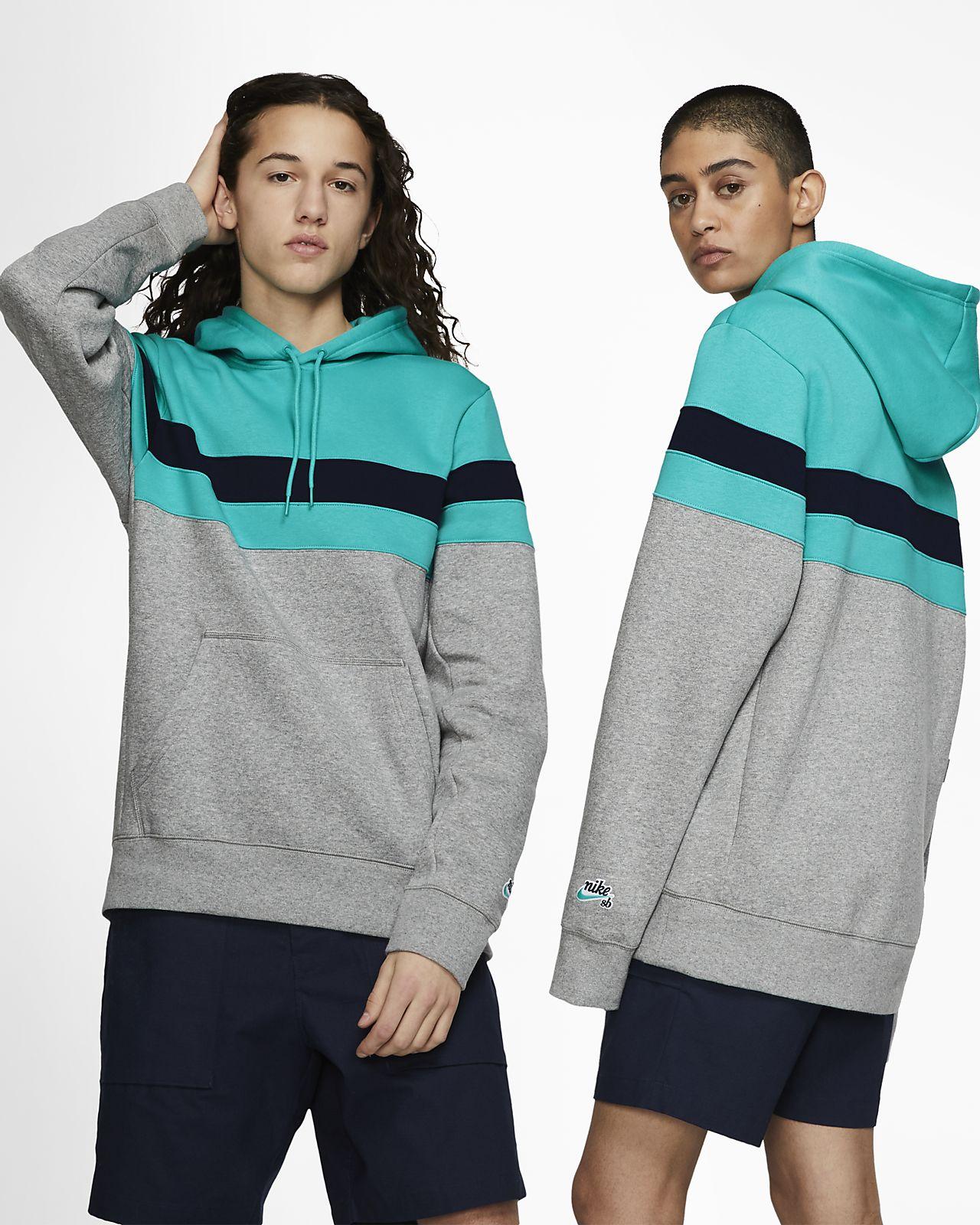 Ριγέ μπλούζα skateboarding με κουκούλα Nike SB Icon